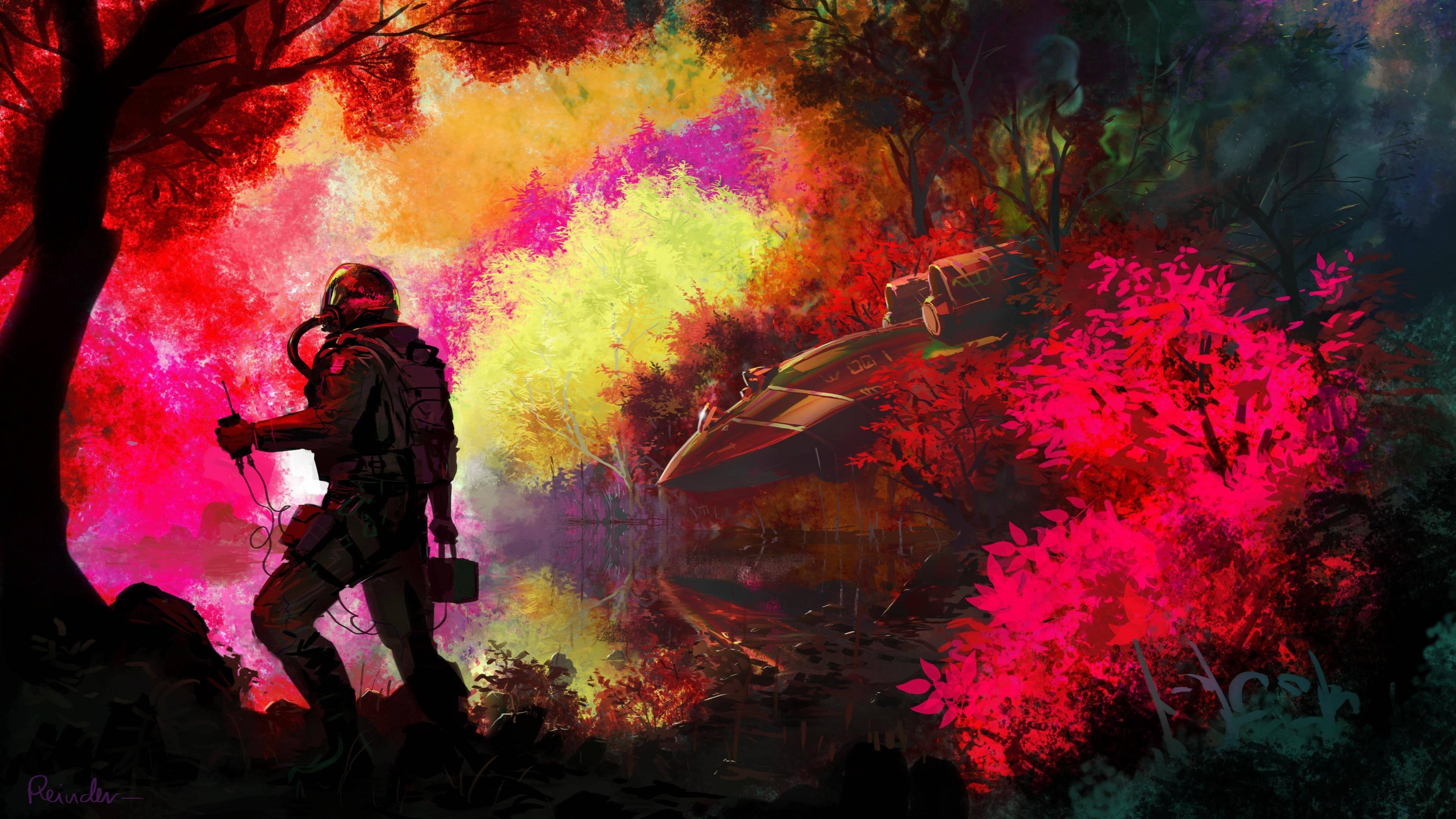 Masaüstü Ağaçlar Renkli Boyama Orman Askeri Uçak Pilot Renk