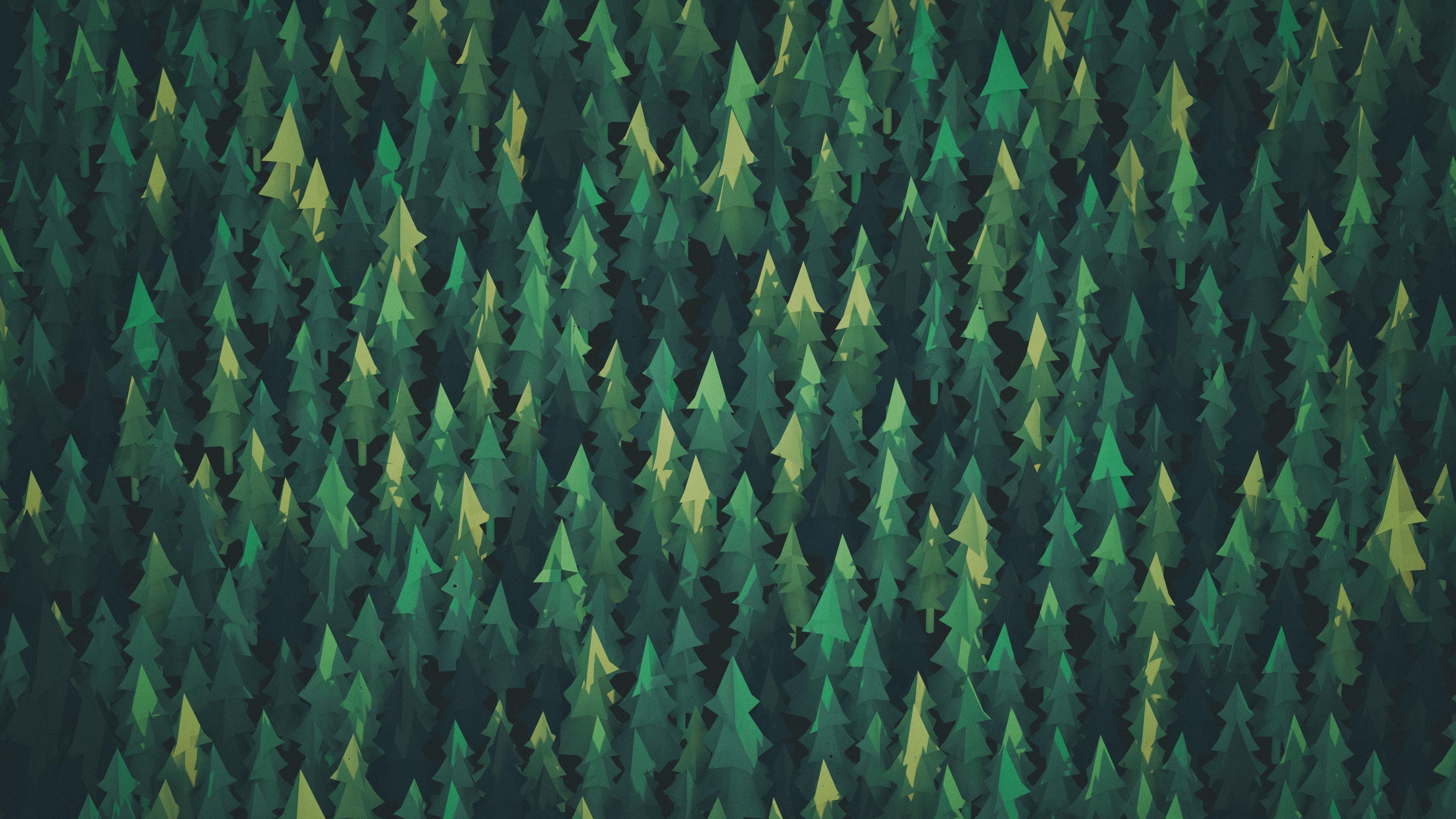 Wallpaper Trees Forest Digital Art Nature Reflection