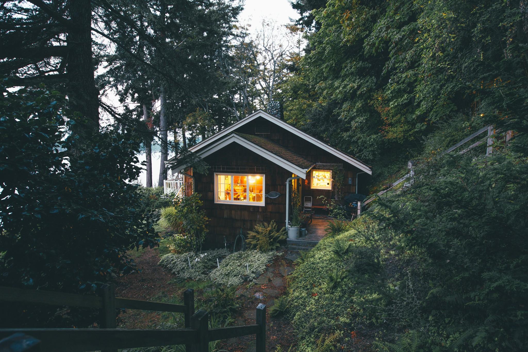 Дом в лесу картинки с цитатами мое