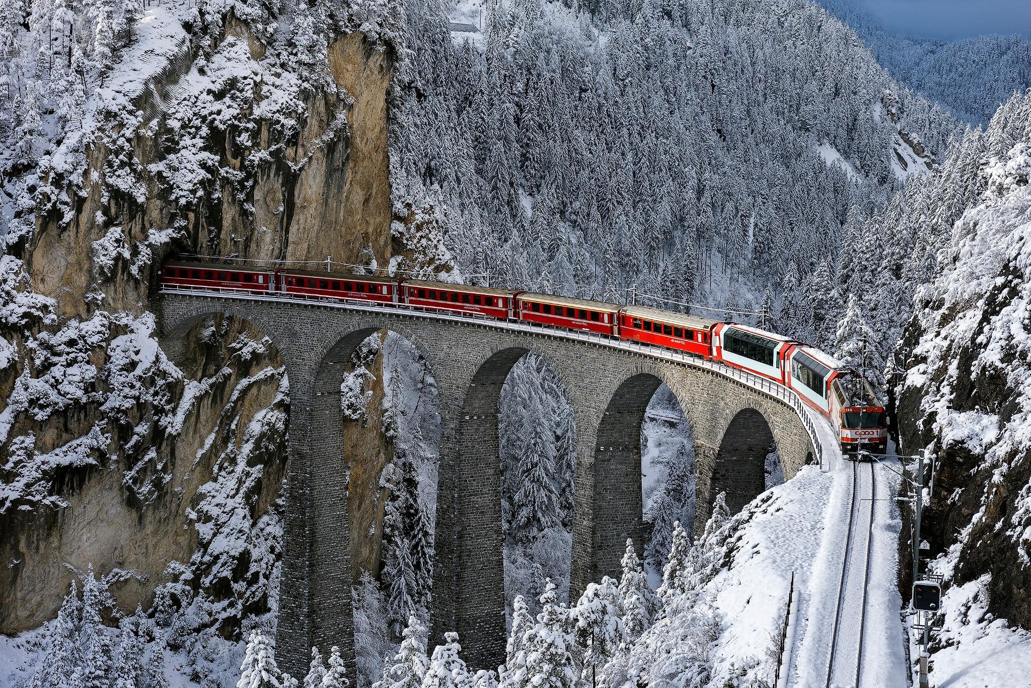 Sfondi alberi foresta la neve inverno treno for Sfondi desktop inverno montagna