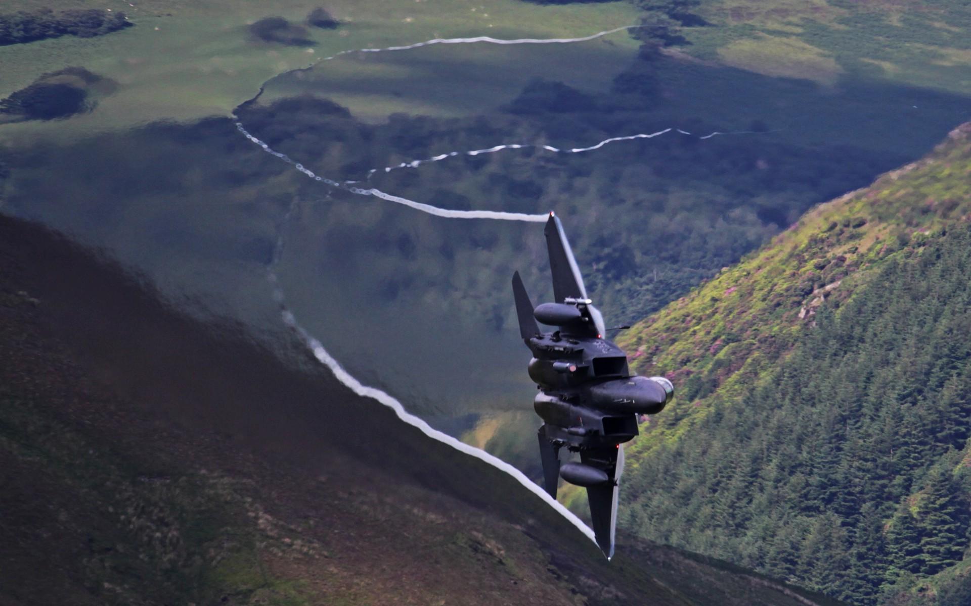 wallpaper : trees, sky, war, airplane, aircraft, military, mountain