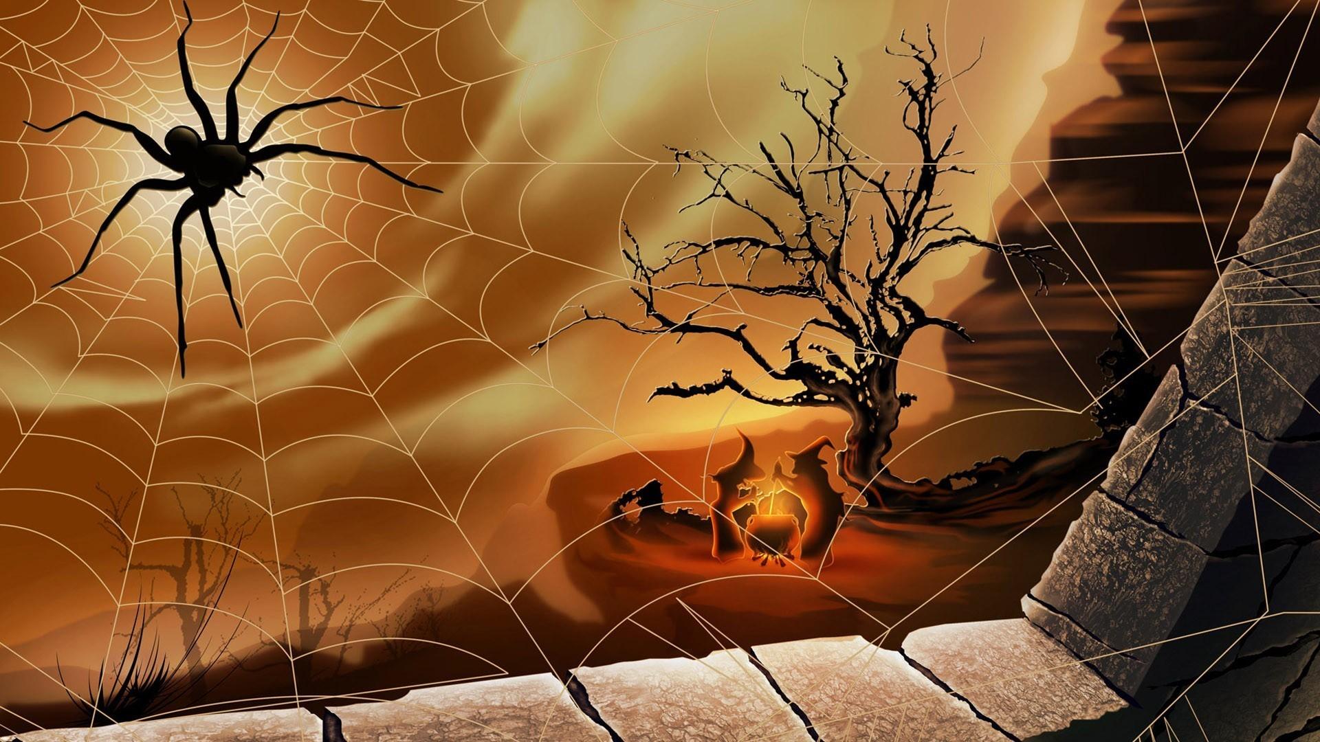 Wallpaper Trees Illustration Digital Art Window Rock Nature Bricks Branch Fire Cliff Witch Spiderwebs Spider Boiler Art Autumn Screenshot Computer Wallpaper Invertebrate 1920x1080 Redline 103617 Hd Wallpapers Wallhere