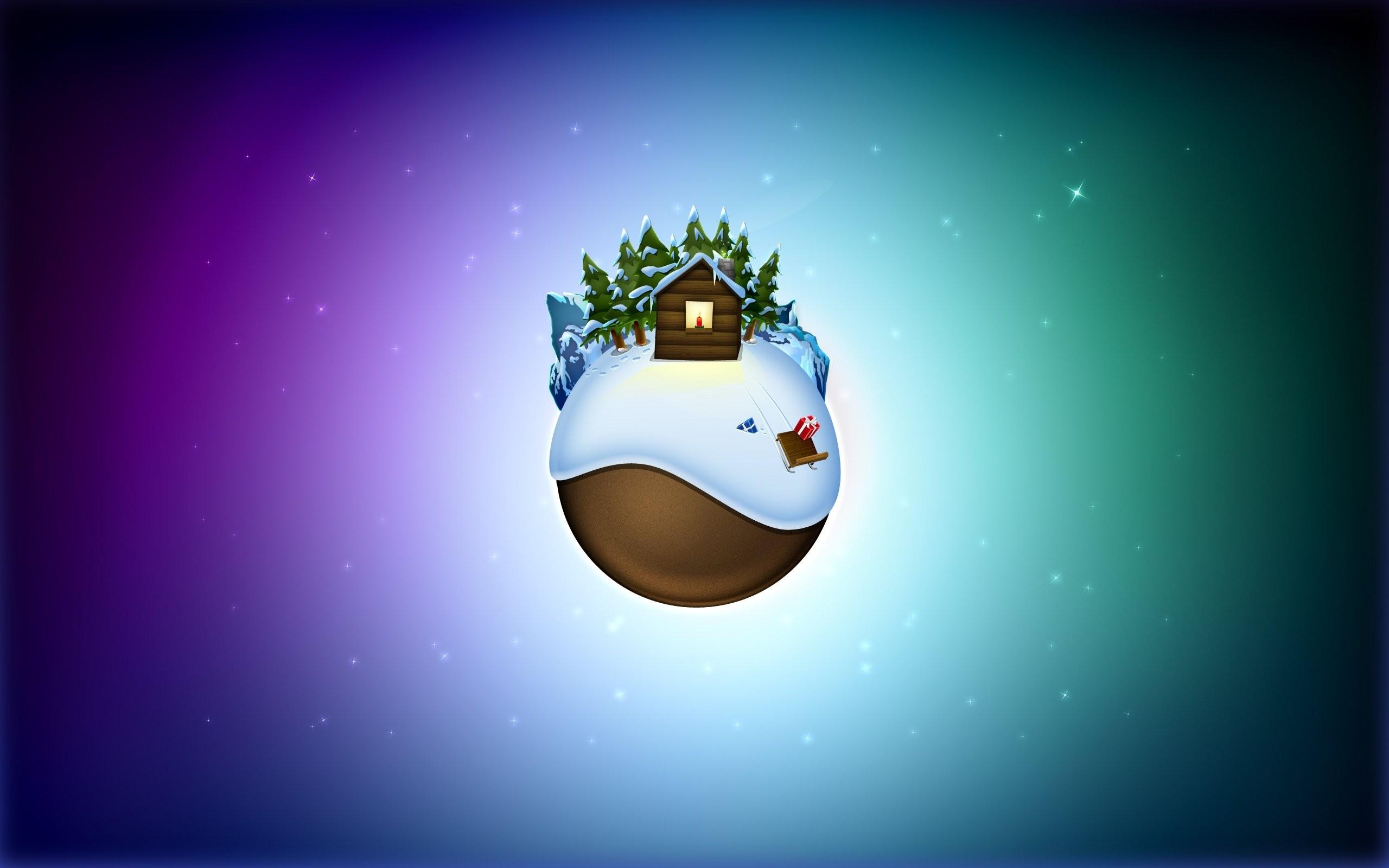 Árbol De Navidad Ilustración 2015 Ultra Hd Wallpapers: Fondos De Pantalla : Árboles, Ilustración, Montañas