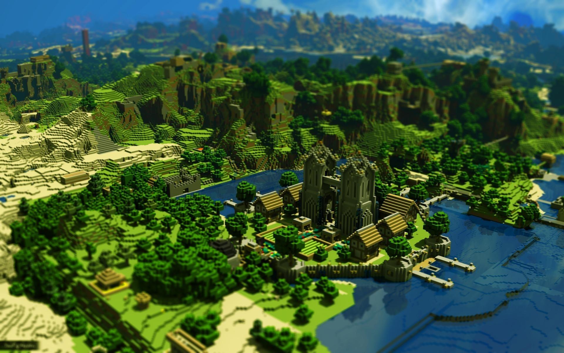 Case Di Montagna Minecraft : Sfondi alberi montagne città paesaggio urbano acqua