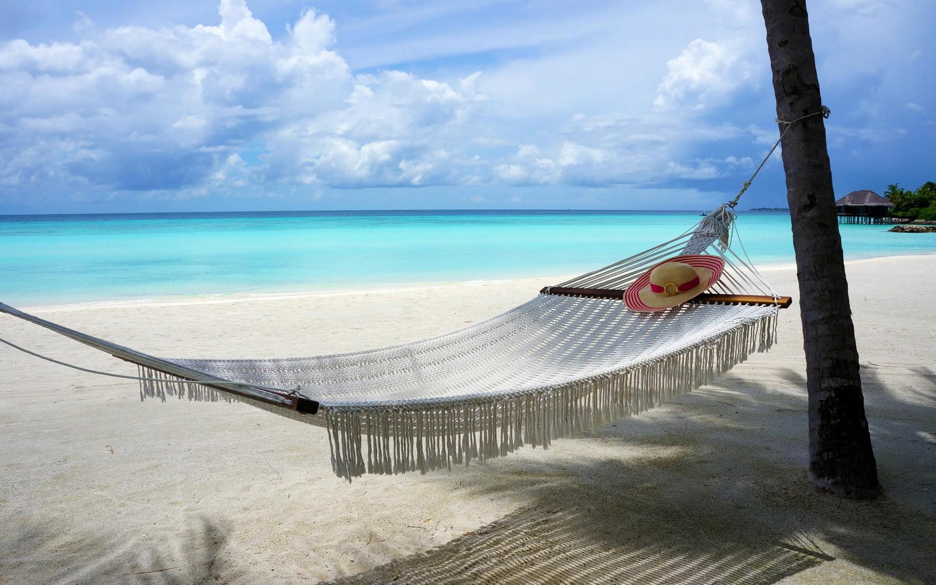 Fondos de pantalla rboles paisaje mar bah a naturaleza apuntalar arena nubes playa - Fotos de hamacas en la playa ...