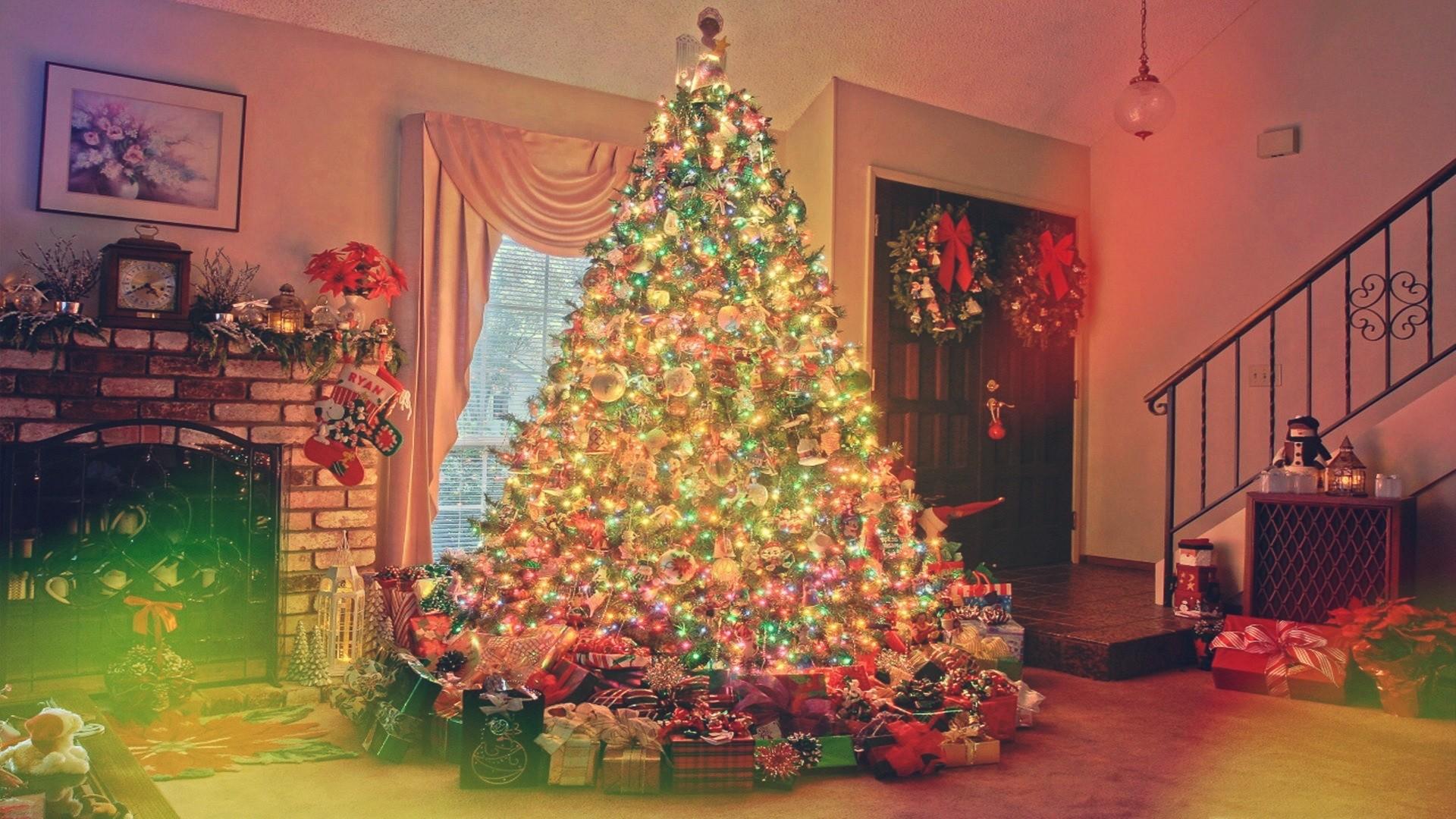 Картинка новый год на рабочий стол елка