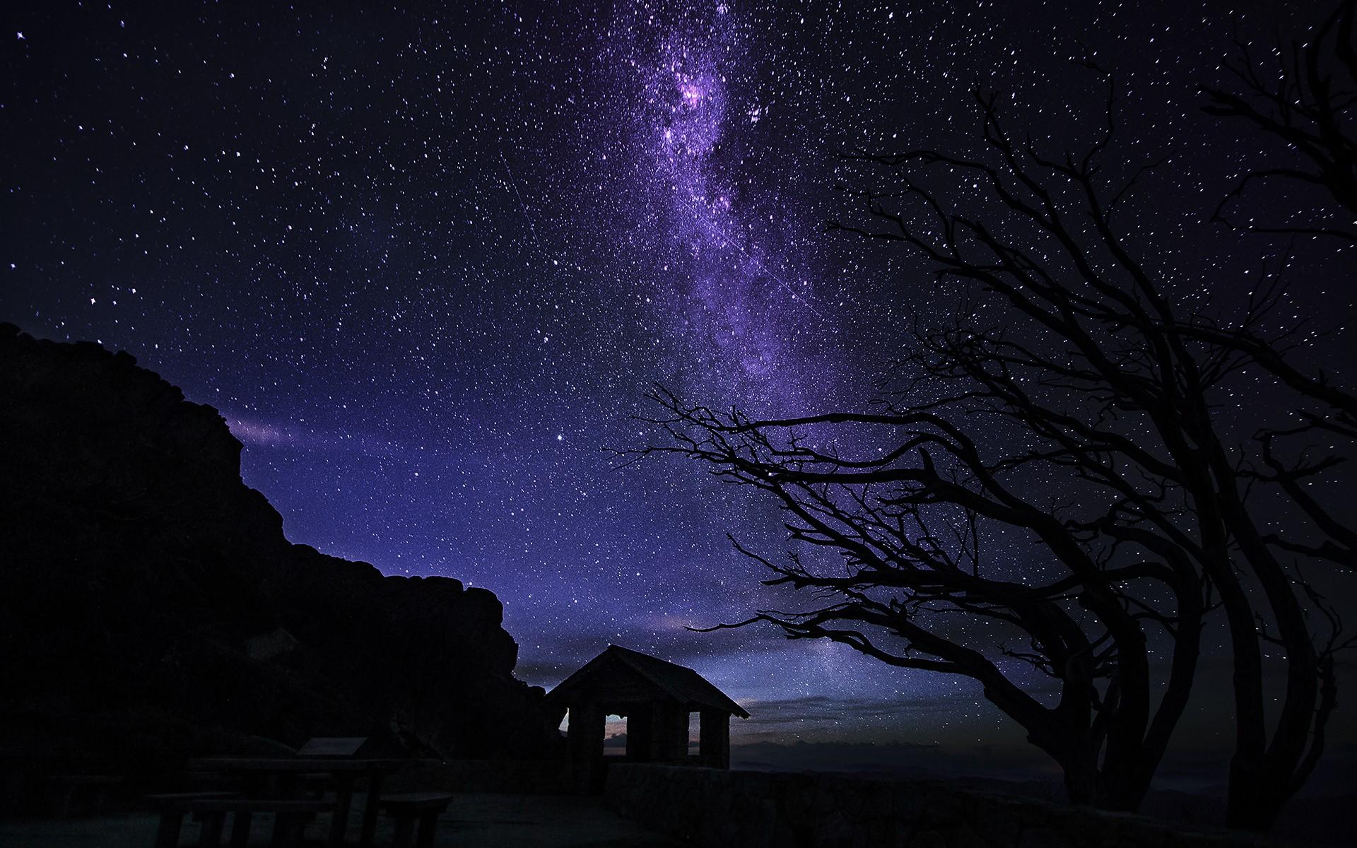 Большая картинка звездной ночи