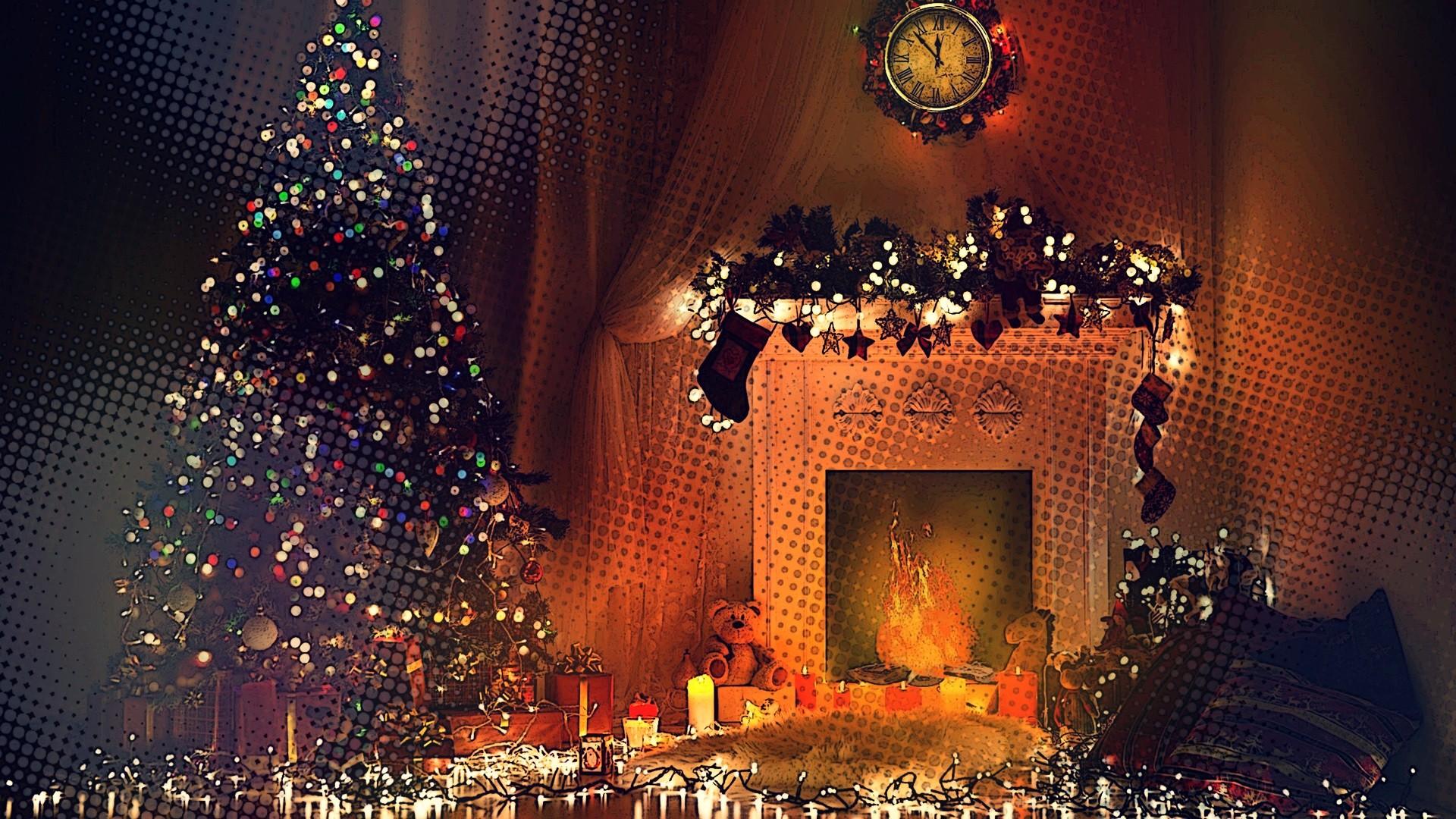 новогодние обои на рабочий стол елка в огнях широкоформатные меня нет