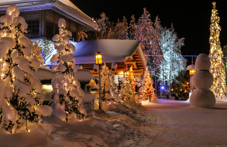 trees night snow winter house lantern Christmas Tree Christmas holiday christmas lights tree decor christmas decoration 261442