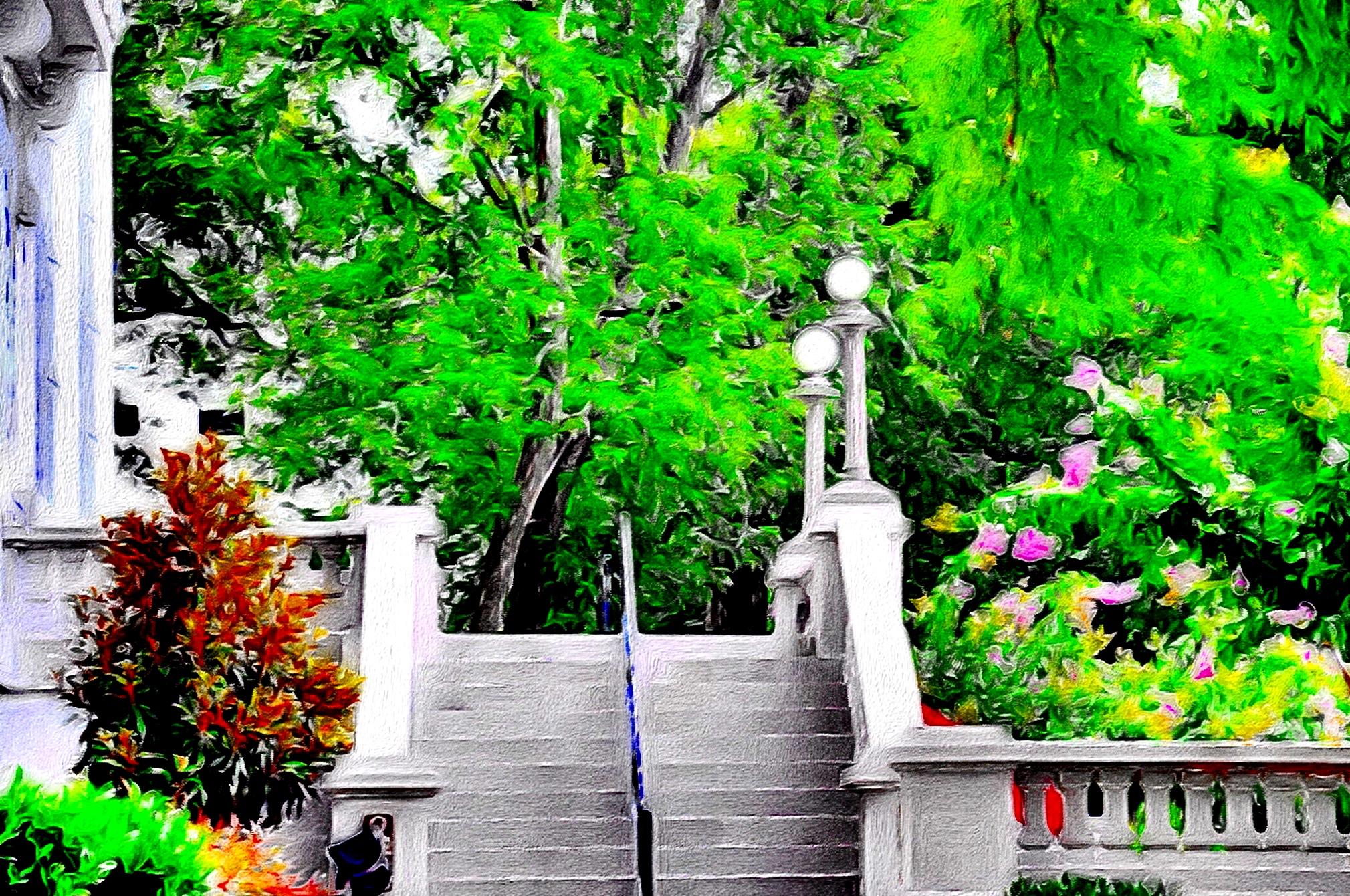 Fondos de pantalla rboles pintura blanco jard n for Arboles de jardin de hoja caduca