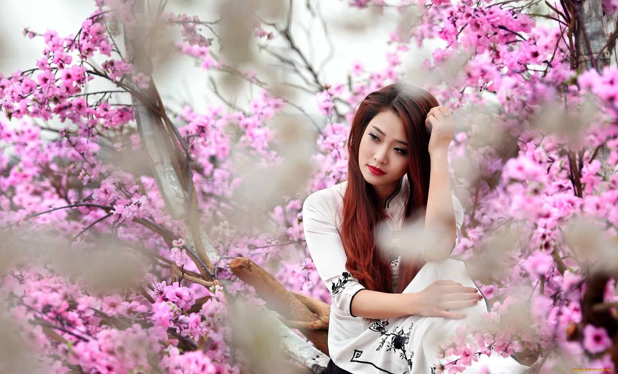 Cherry blossom women