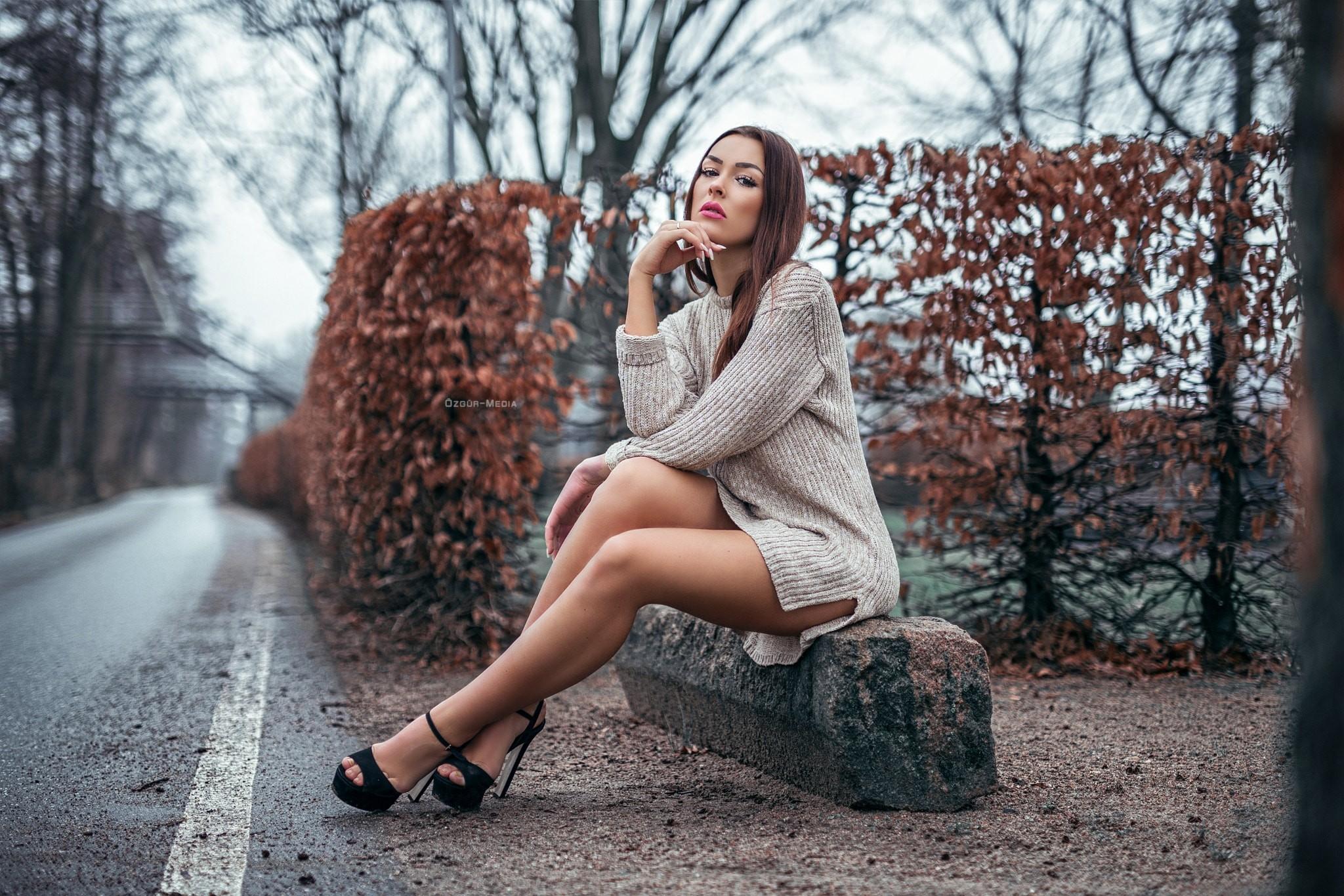 women Outdoors, Women, Model, Field, Nature Wallpapers HD