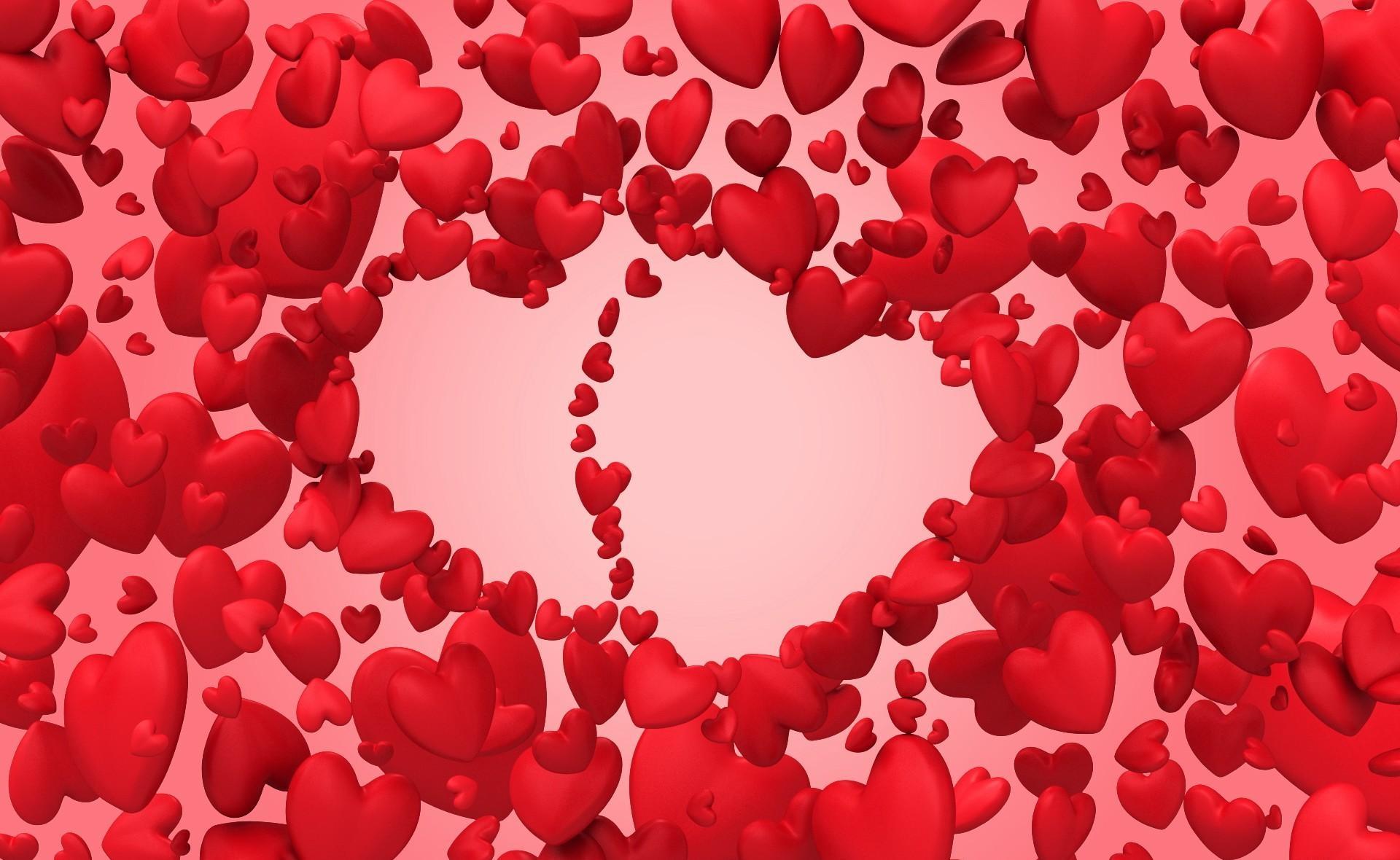 Картинки для рабочего стола сердечками