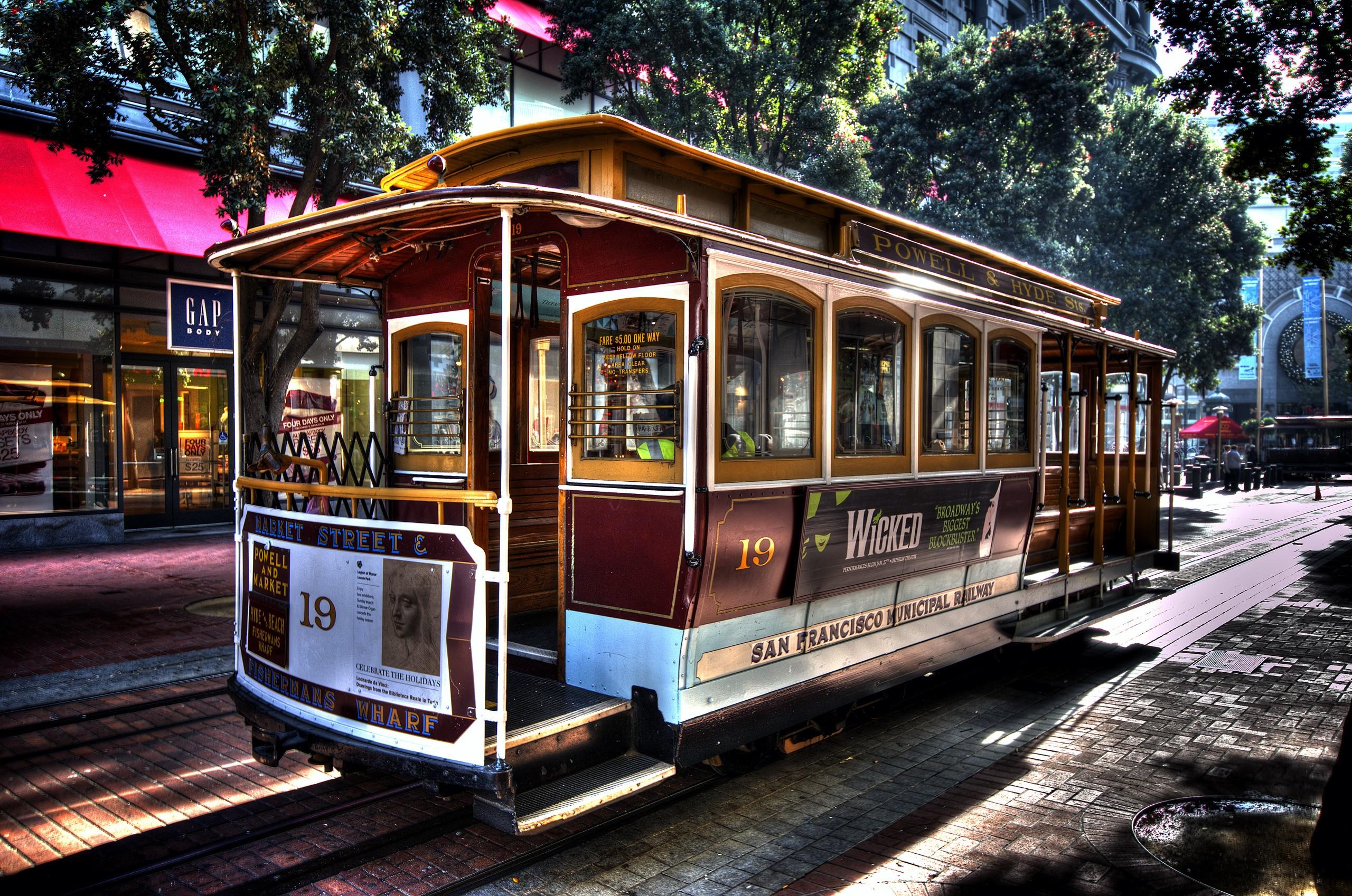 Wallpaper San Francisco Cable Car Tram Metropolitan