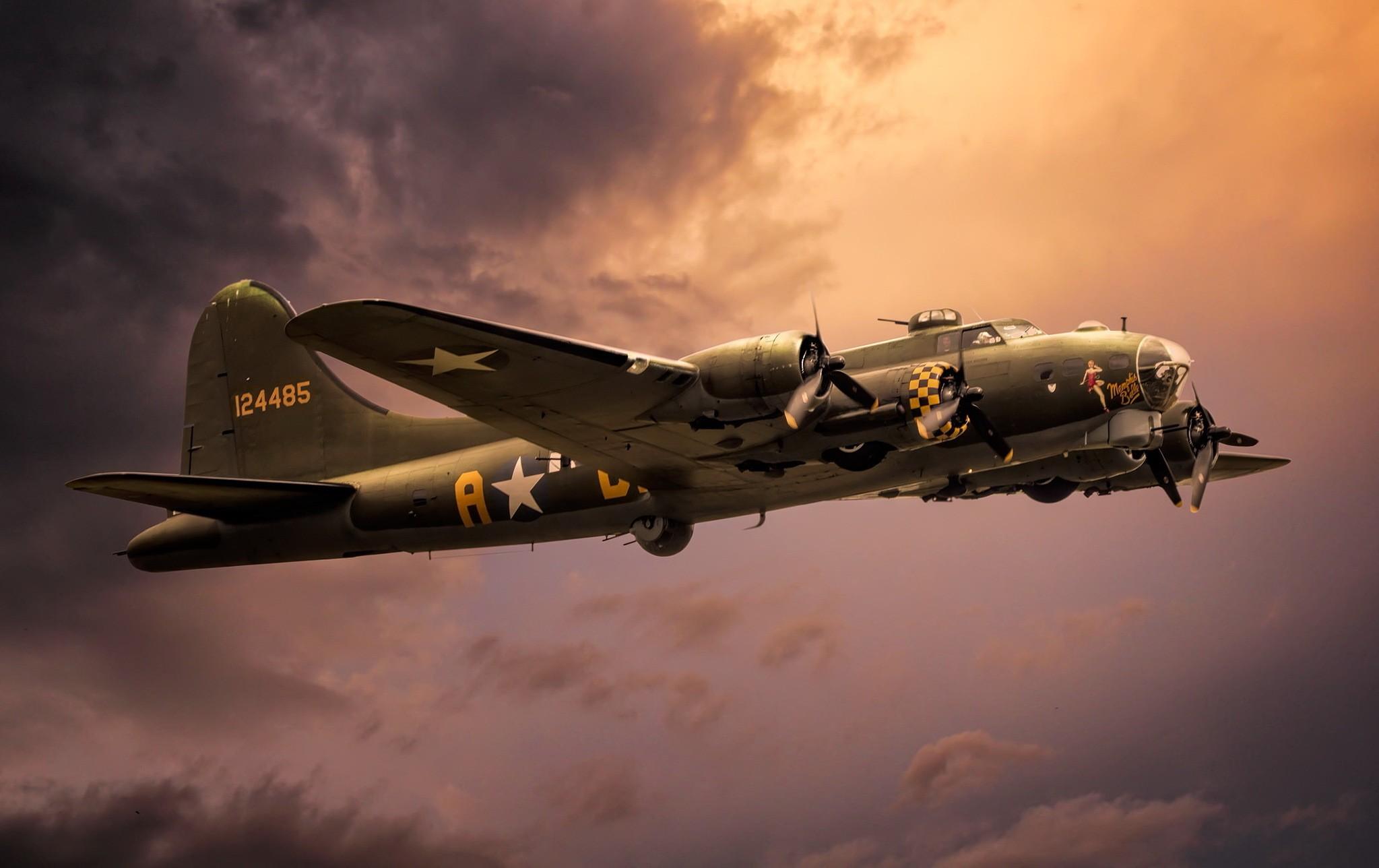 Обои Самолёт, B 17. Авиация foto 11