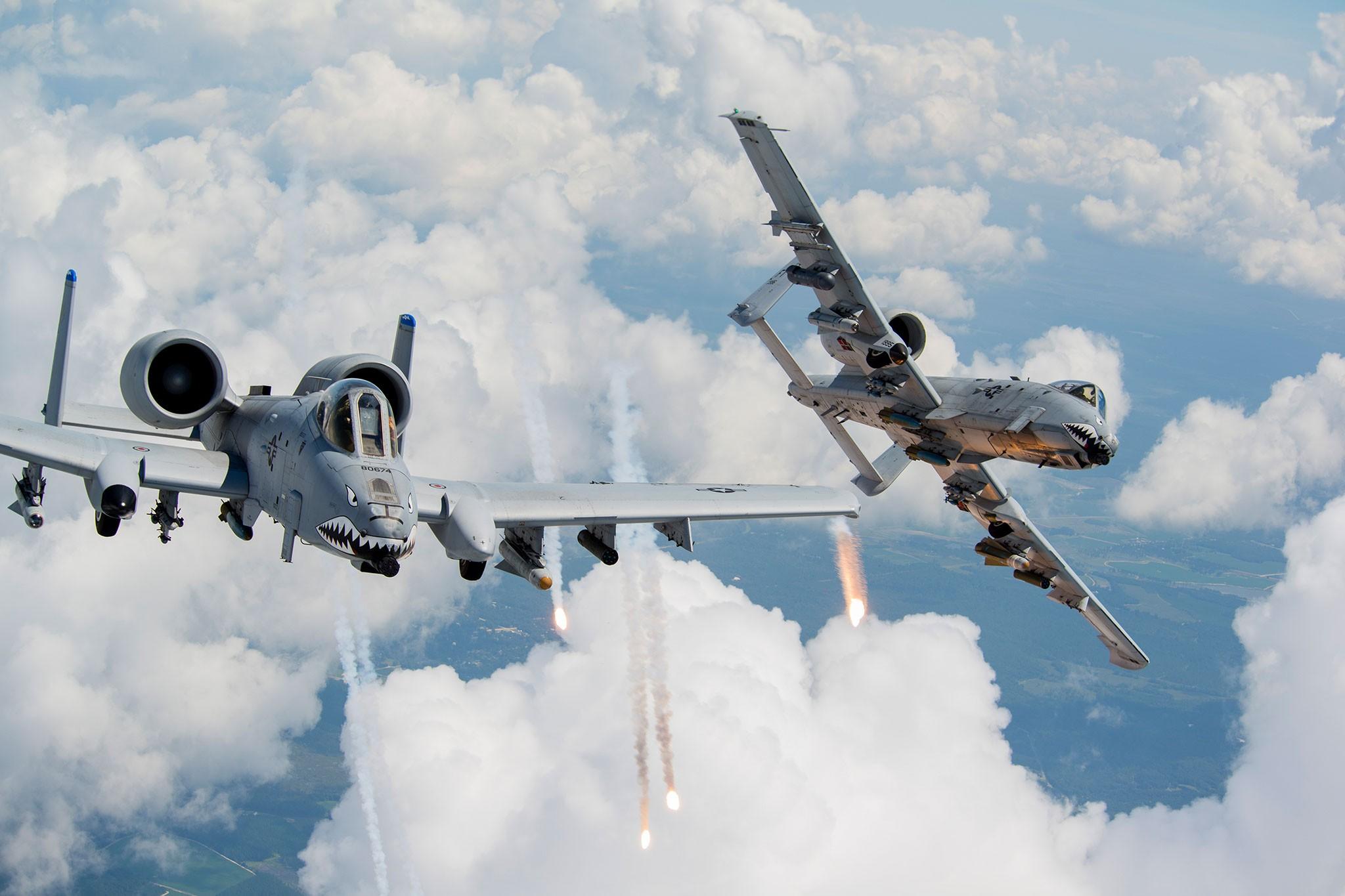 Обои thunderbolt ii, A-10, штурмовик. Авиация foto 18