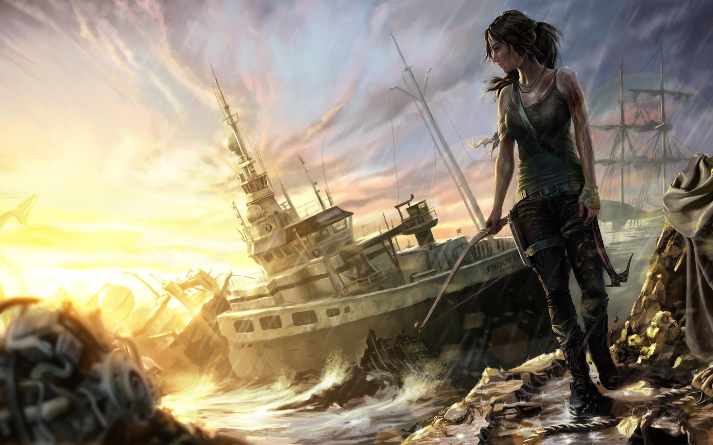 Wallpaper Vehicle Battle Soldier Lara Croft Tomb Raider