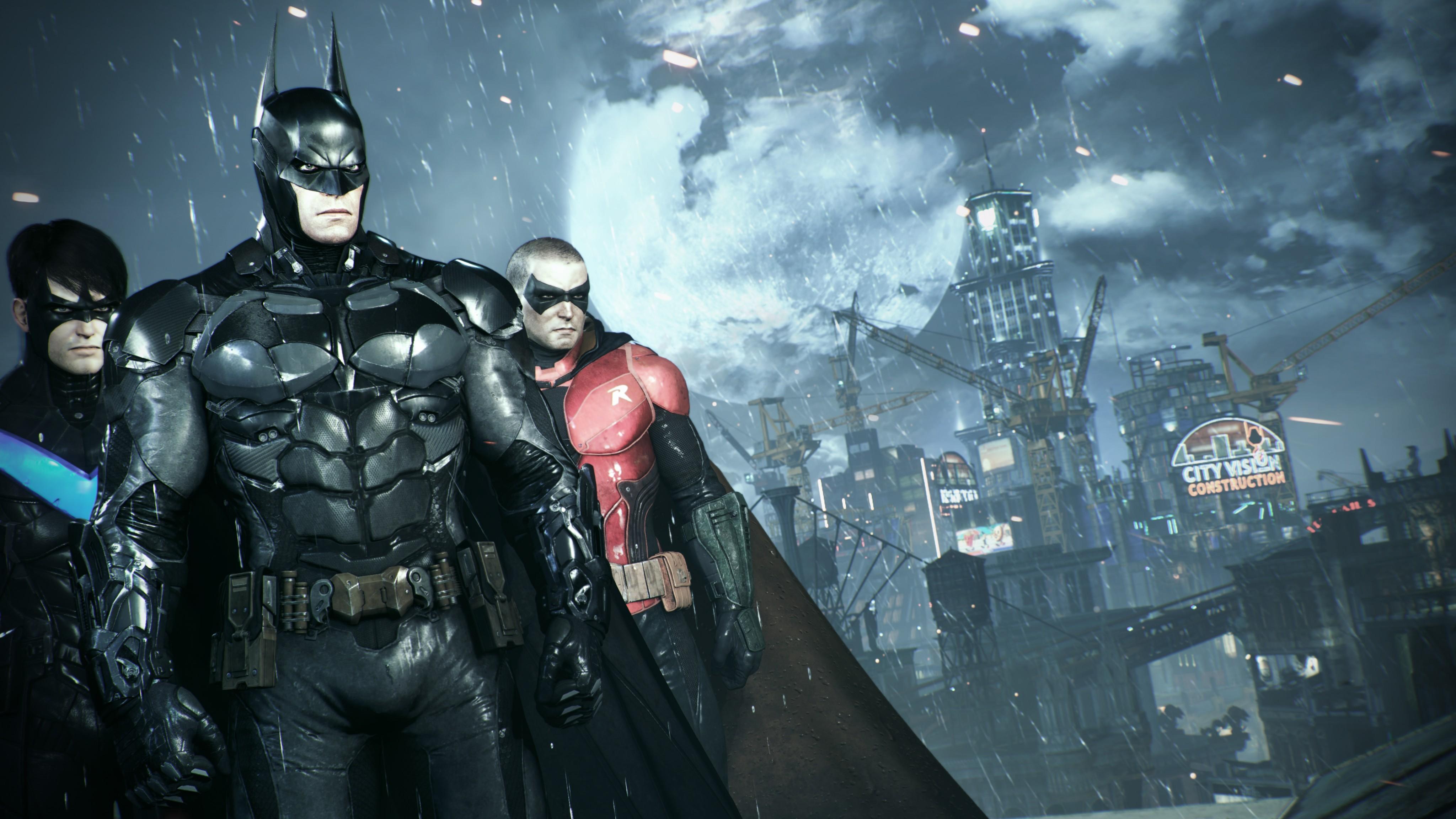 Video Games Batman Arkham Knight Superhero Gotham City Nightwing Robin Character Darkness Screenshot Computer Wallpaper