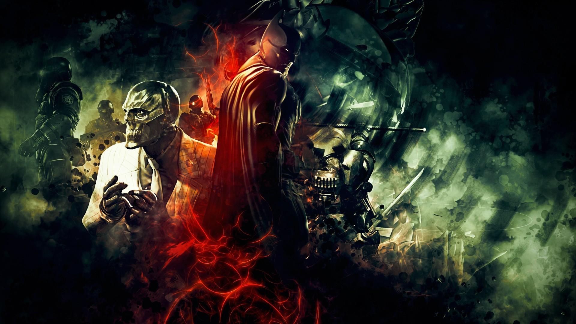 Video Games Batman Deathstroke Black Mask Arkham Origins Darkness Screenshot 1920x1080 Px Computer Wallpaper Special