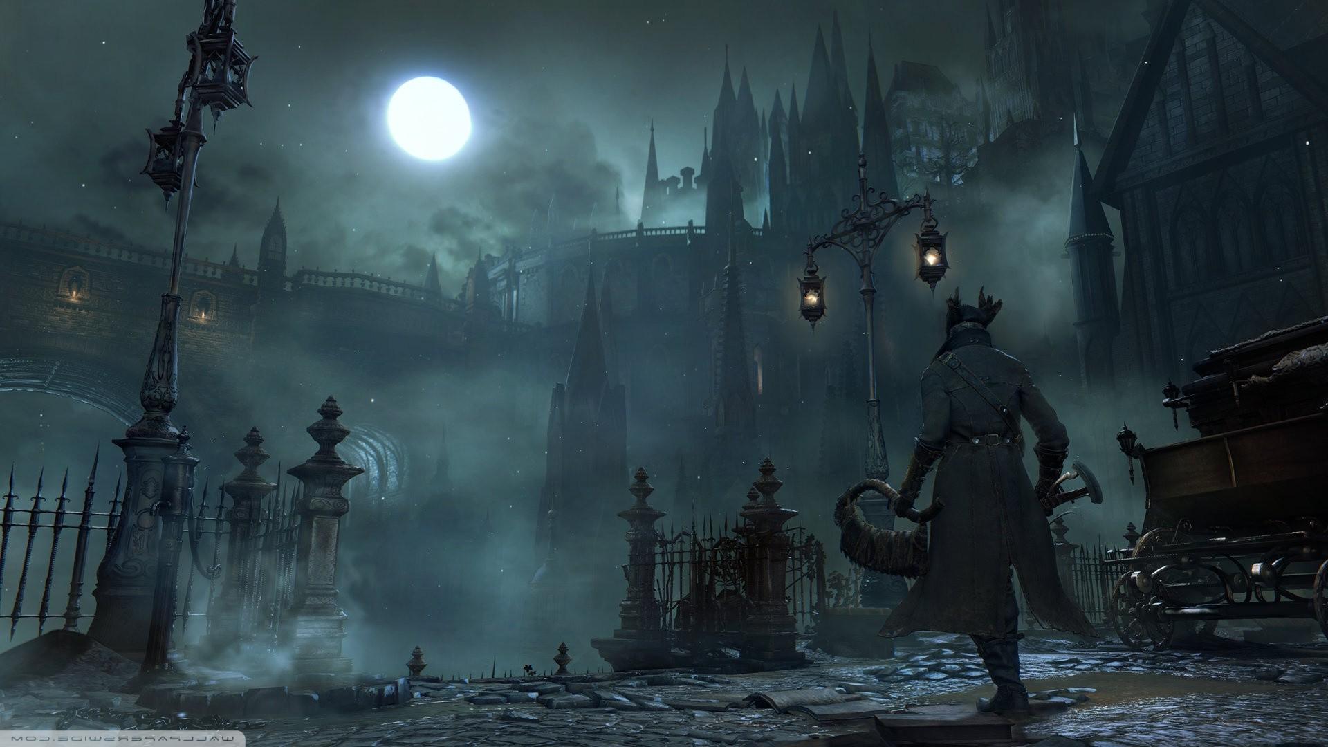 Wallpaper Video Games Bloodborne Midnight Ghost Ship