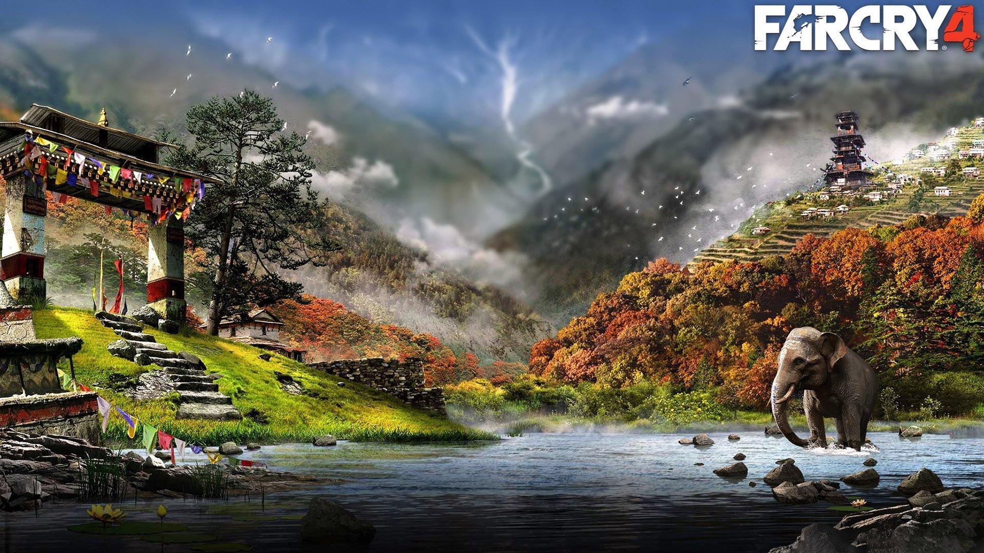 Wallpaper Video Games Far Cry 4 Elephant 1920x1080 Utp