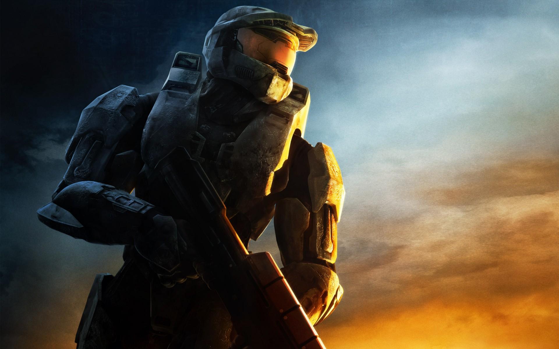 Wallpaper Video Games Master Chief Halo 3 Darkness