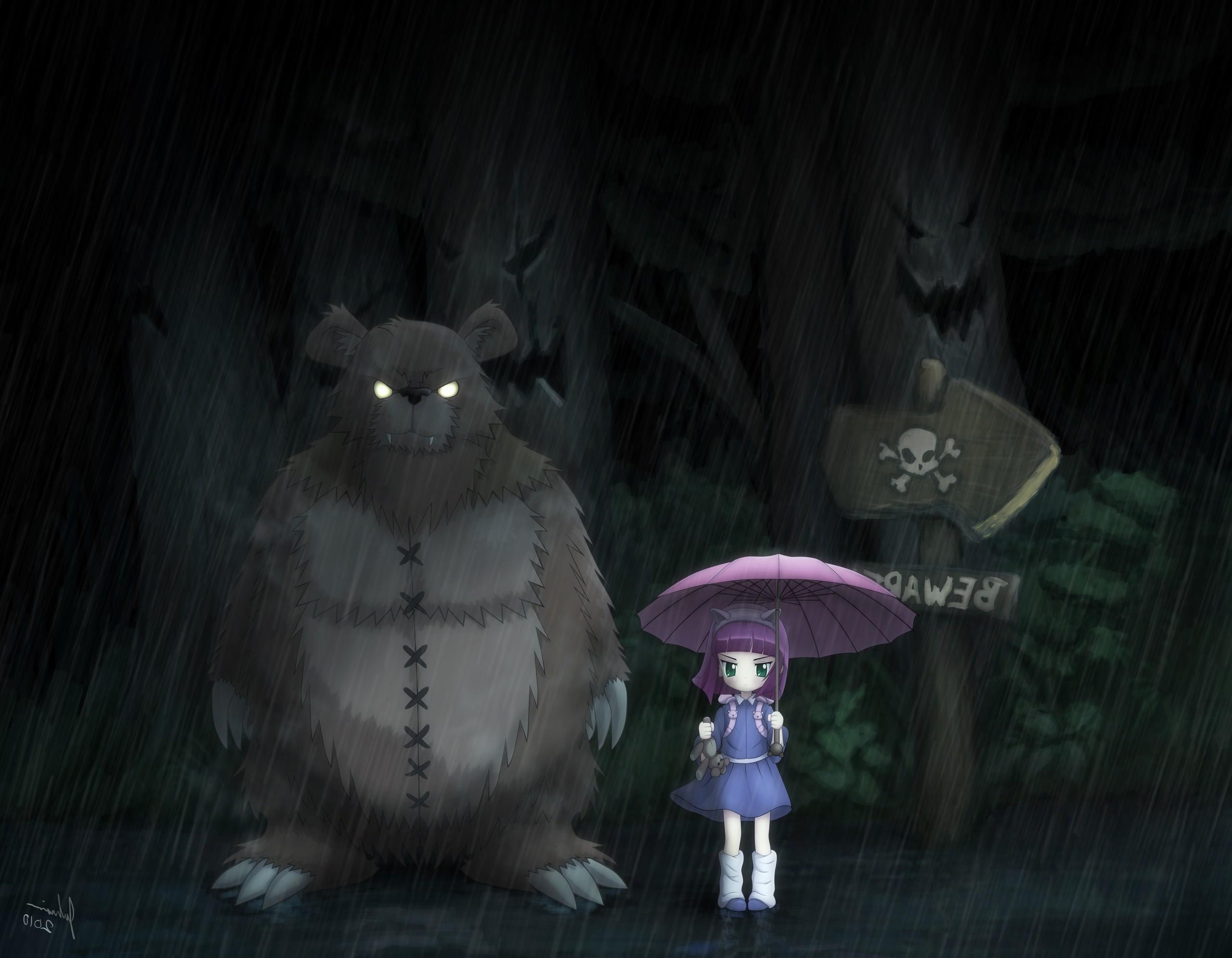 Video Games League Of Legends My Neighbor Totoro Annie Darkness Screenshot Computer Wallpaper 2560x1991 Px