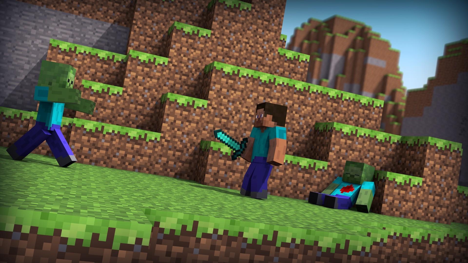 Hintergrundbilder Videospiele Minecraft Welt Steve Spielzeug - Minecraft spielen original