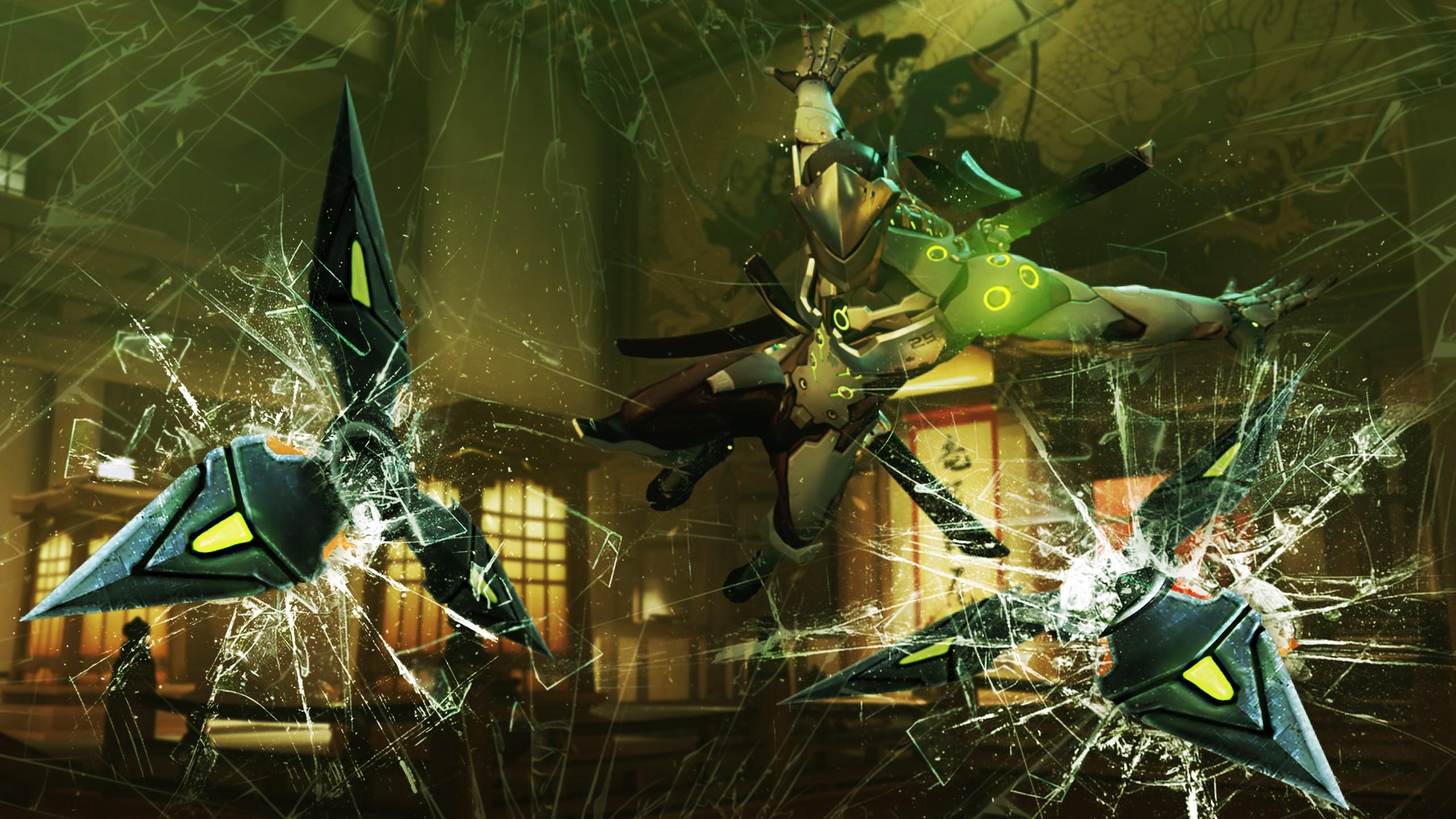 Wallpaper Video Games Genji Overwatch Blizzard