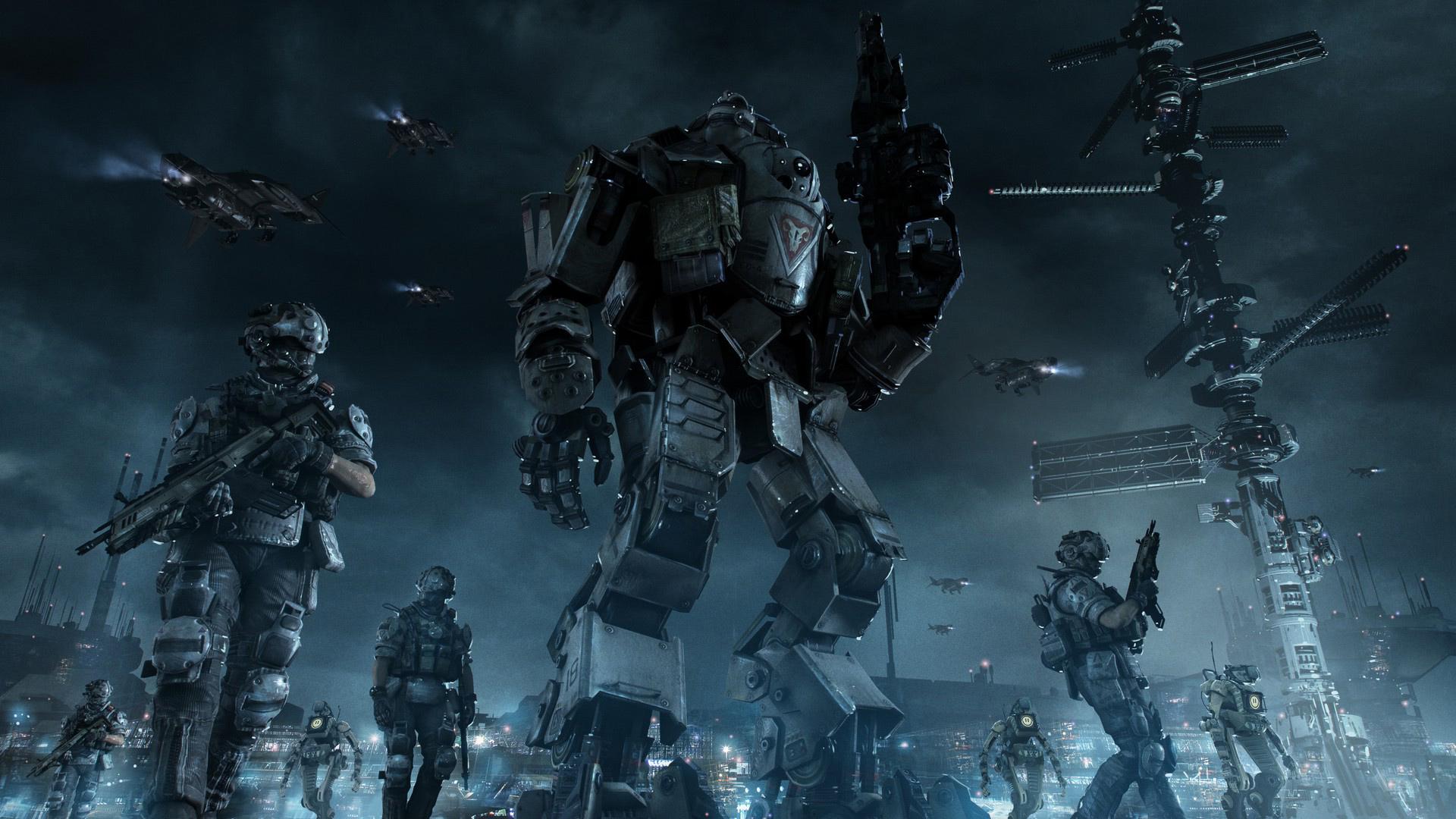 wallpaper : video games, titanfall, mech, darkness, screenshot
