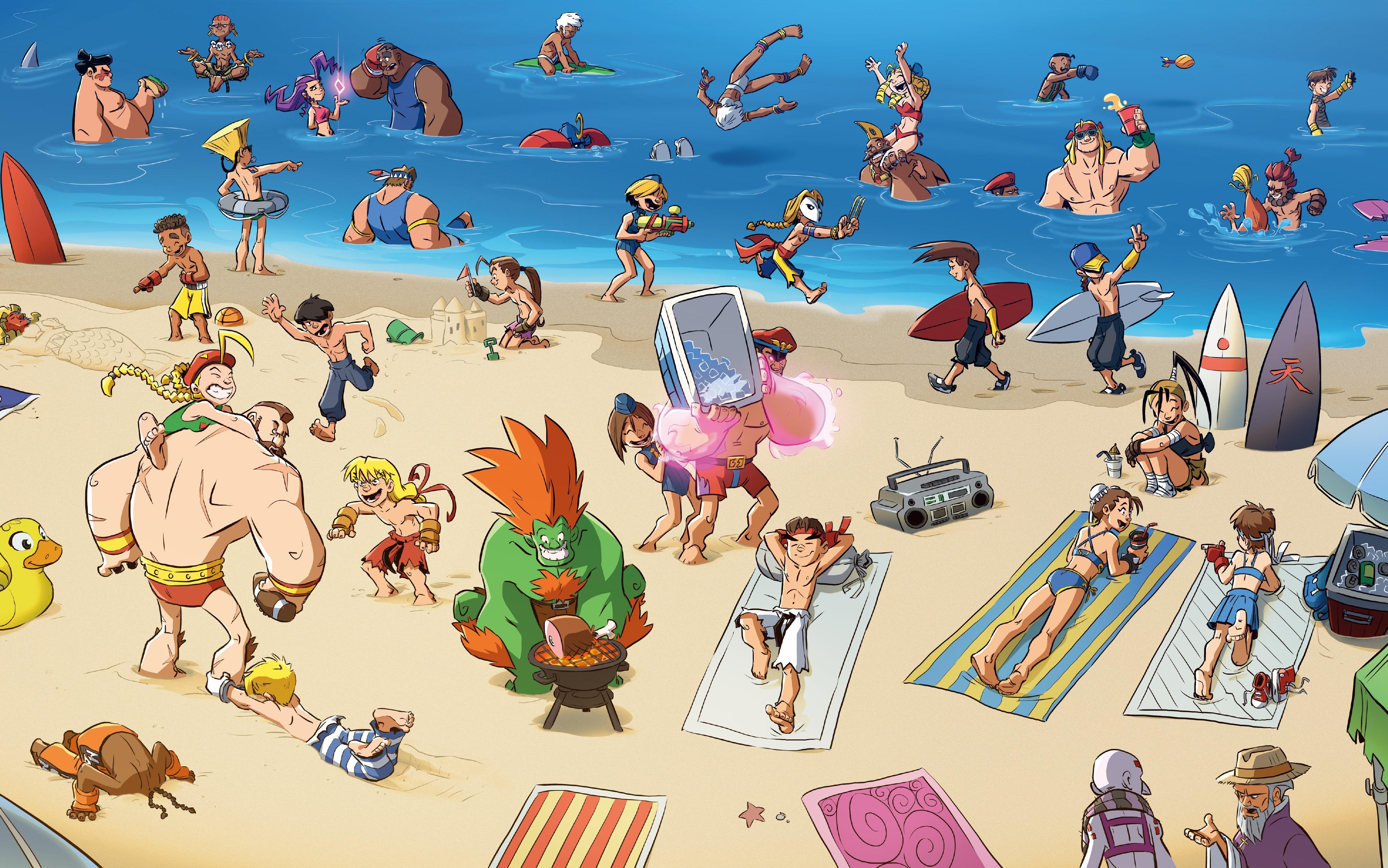 Wallpaper Video Games Video Game Art Street Fighter Beach