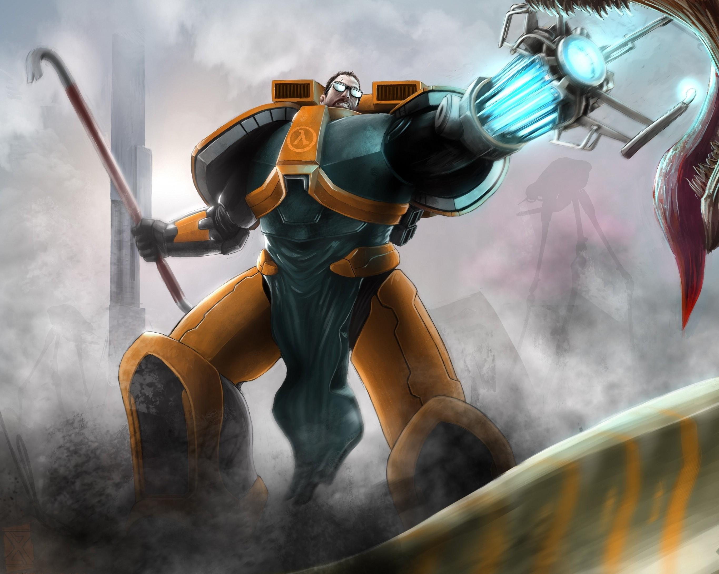Wallpaper Video Games Anime Artwork Machine Half Life 2