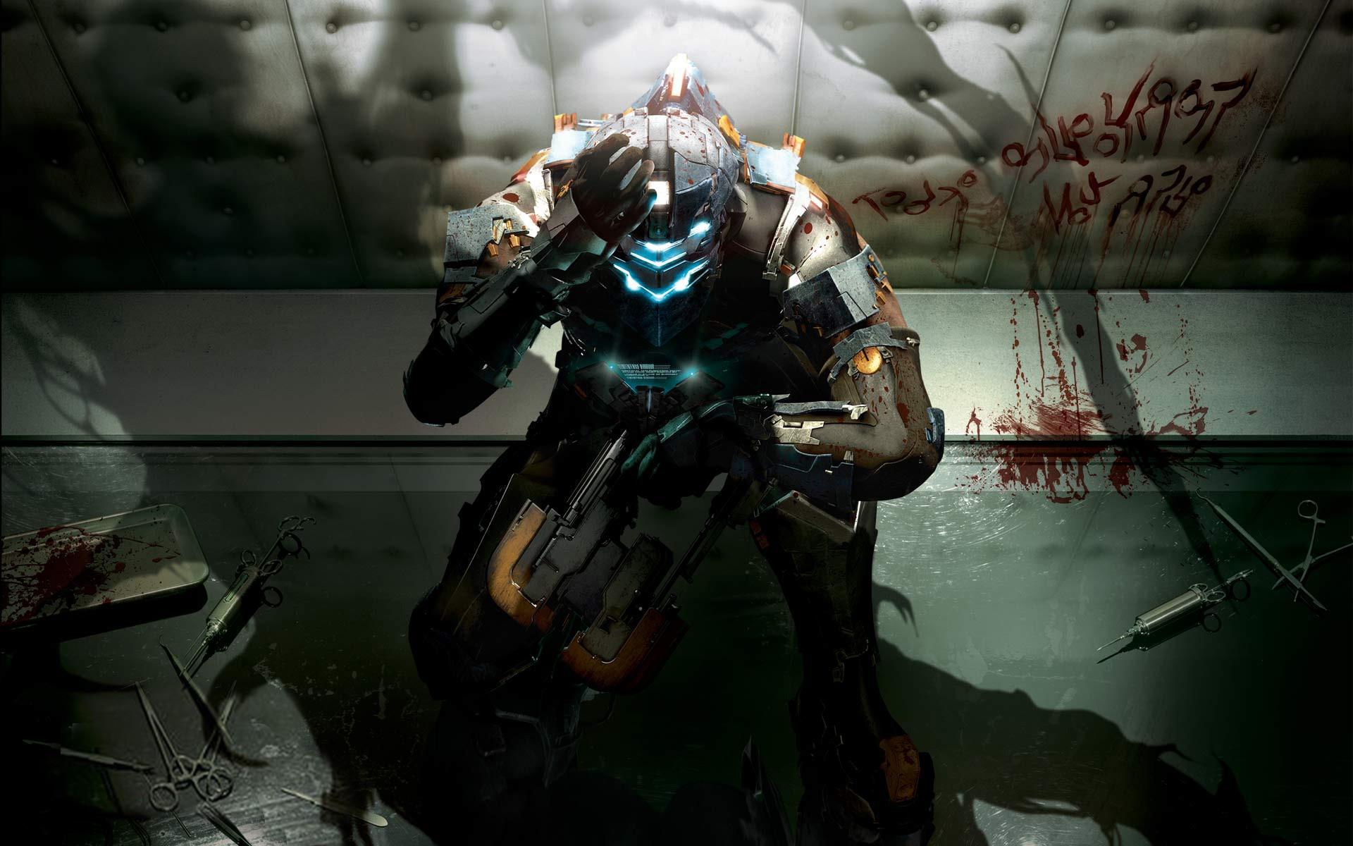 Wallpaper Video Games Anime Blood Machine Comics Dead Space