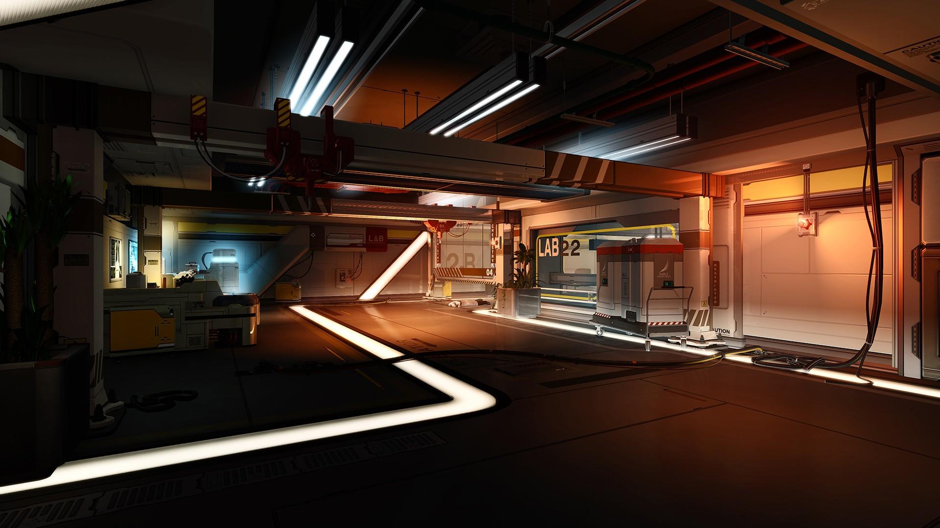 Wallpaper Video Games Architecture Cyberpunk Room