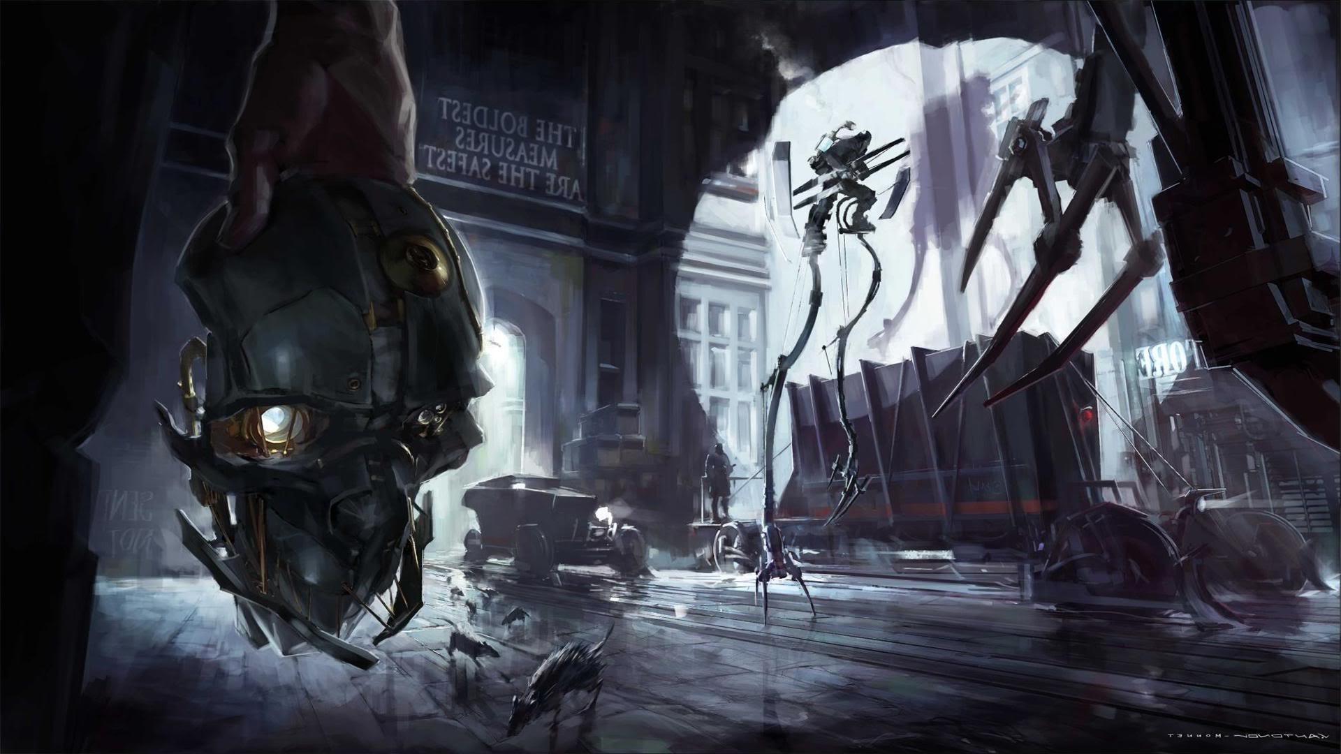 wallpaper : video games, artwork, dishonored, darkness, screenshot