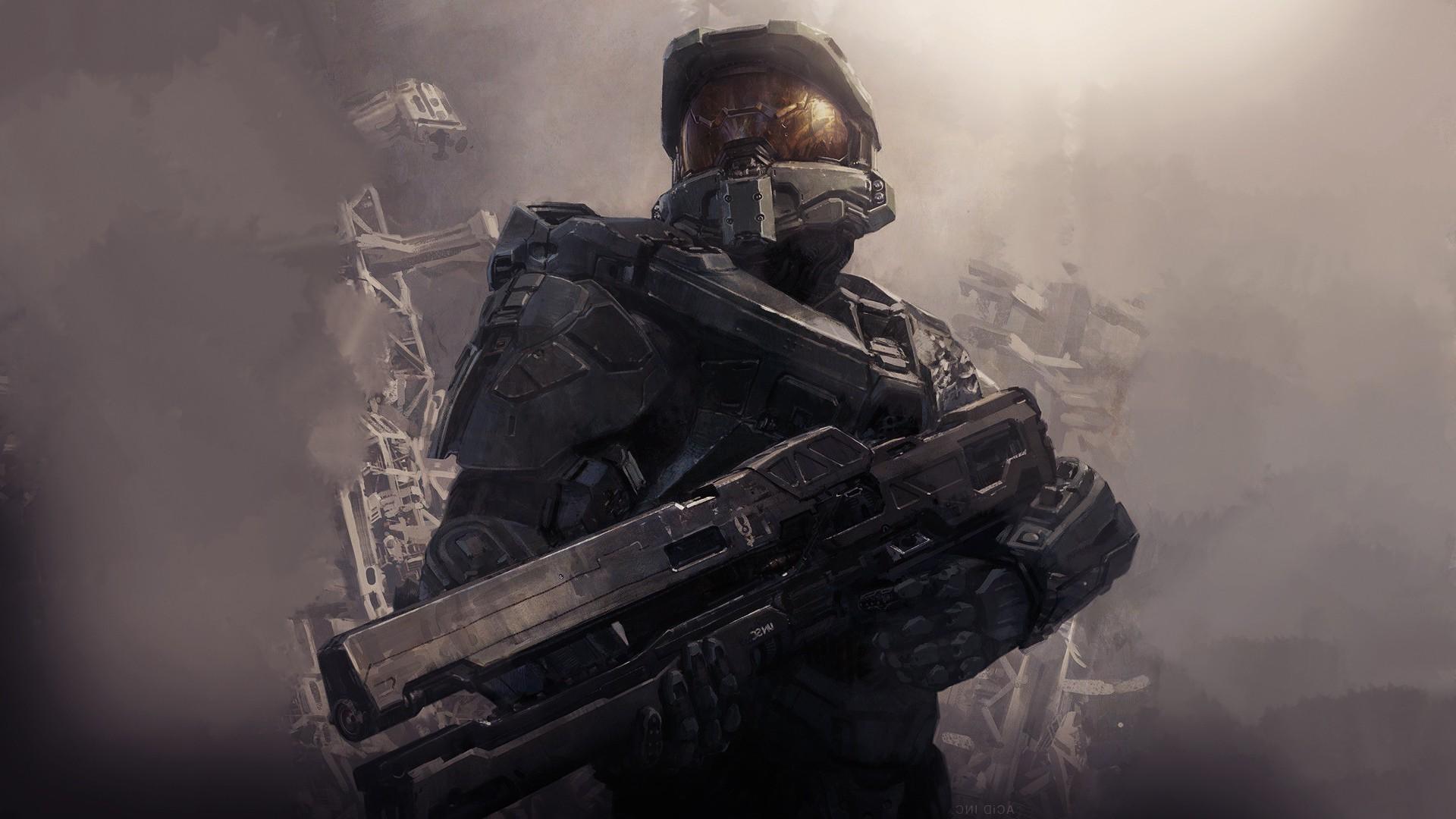 Wallpaper Video Games Artwork Soldier Master Chief