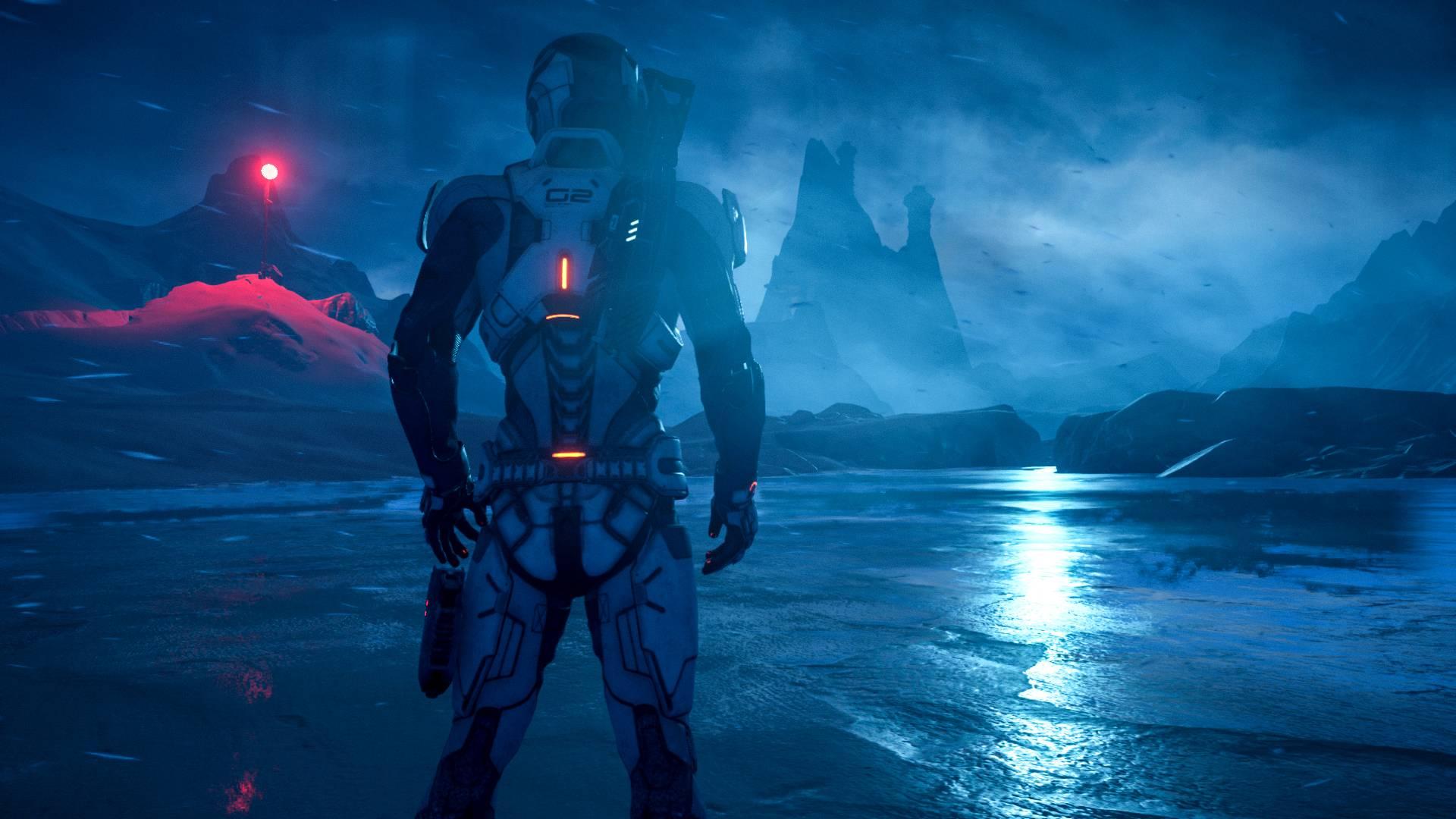 Wallpaper Video Games Blue Mass Effect Andromeda Screenshot