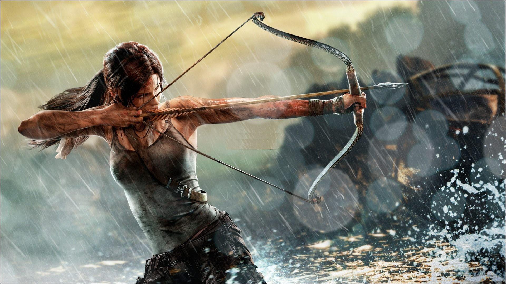 Video Games Bow Archer Lara Croft Tomb Raider Mythology Rise Of The Screenshot
