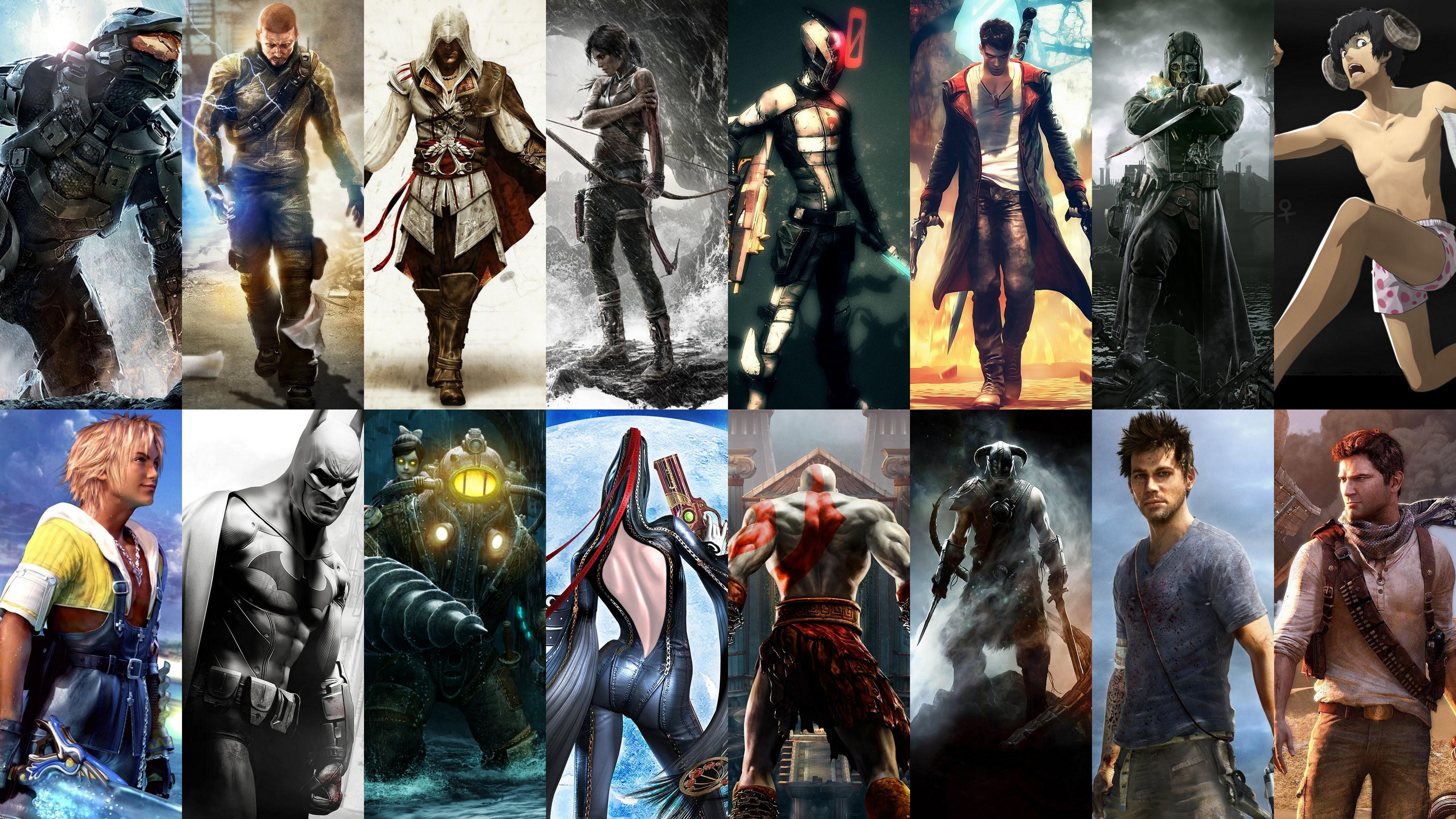 Wallpaper video games collage batman arkham city - Drake collage wallpaper ...