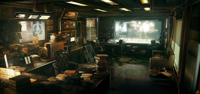 Wallpaper video games cyberpunk futuristic concept