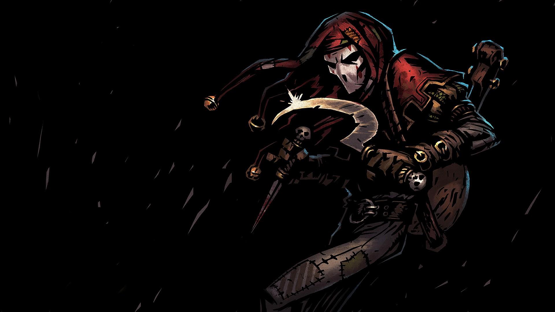 Wallpaper : video games, dark, Jester, Darkest Dungeon ...