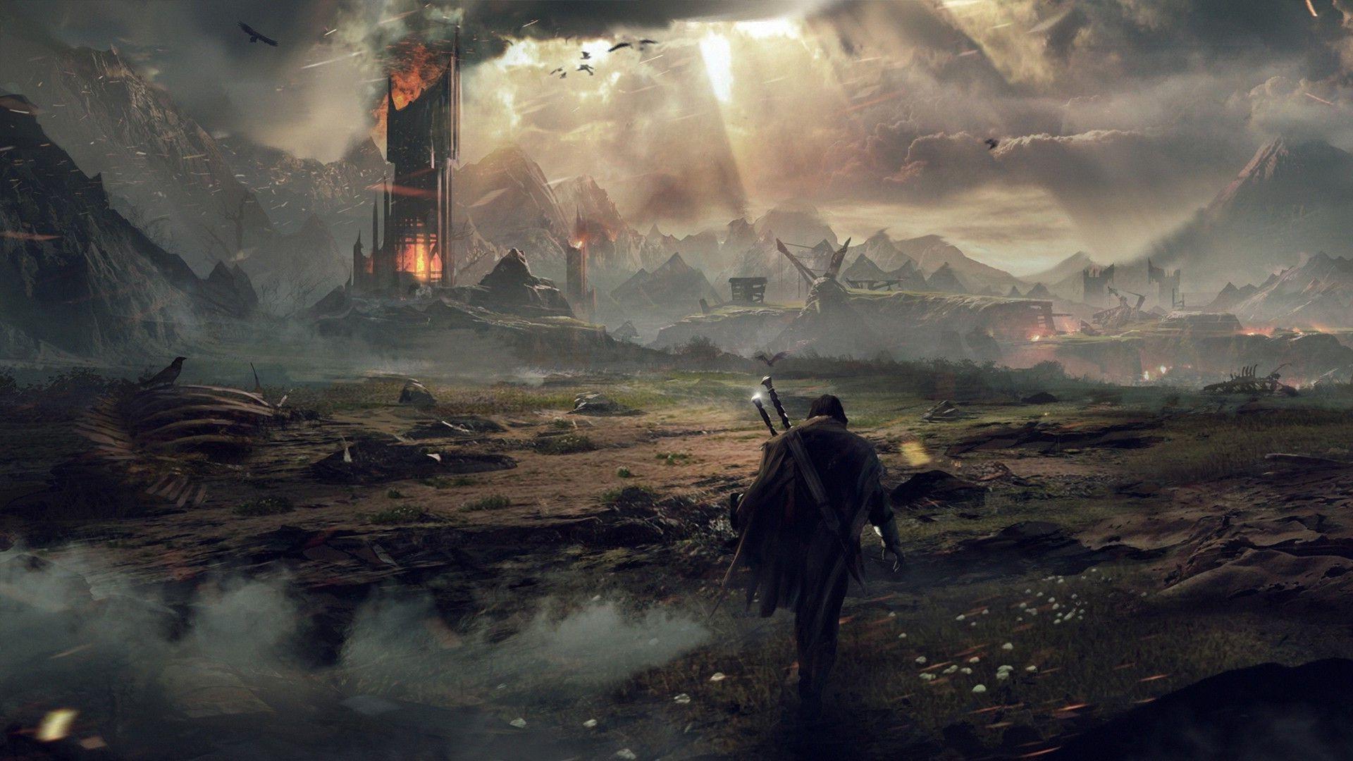Fond Décran Jeux Vidéo Art Fantastique Le Seigneur Des