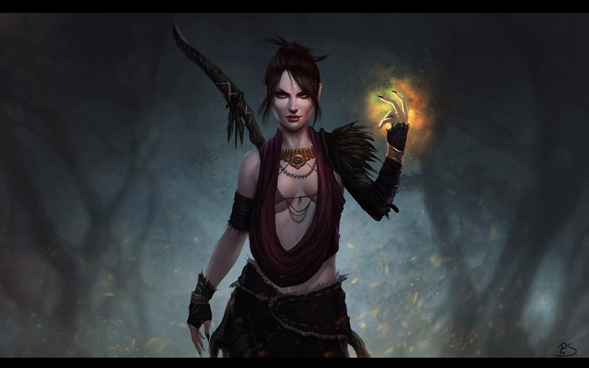 wallpaper : video games, fantasy art, fantasy girl, demon, dragon