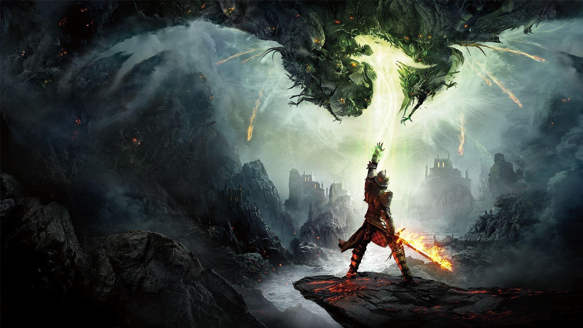 Wallpaper Video Games Fantasy Art Fire Dragon Age