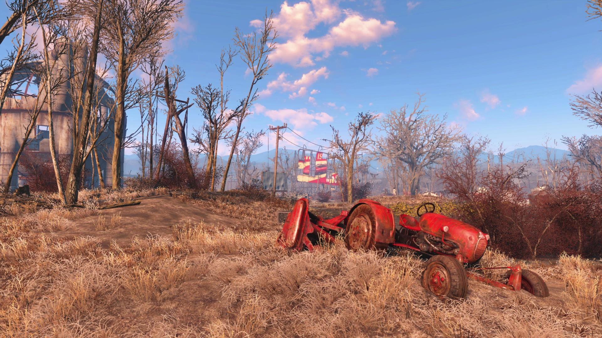 Wallpaper : video games, field, farm, Fallout 4, tree, autumn