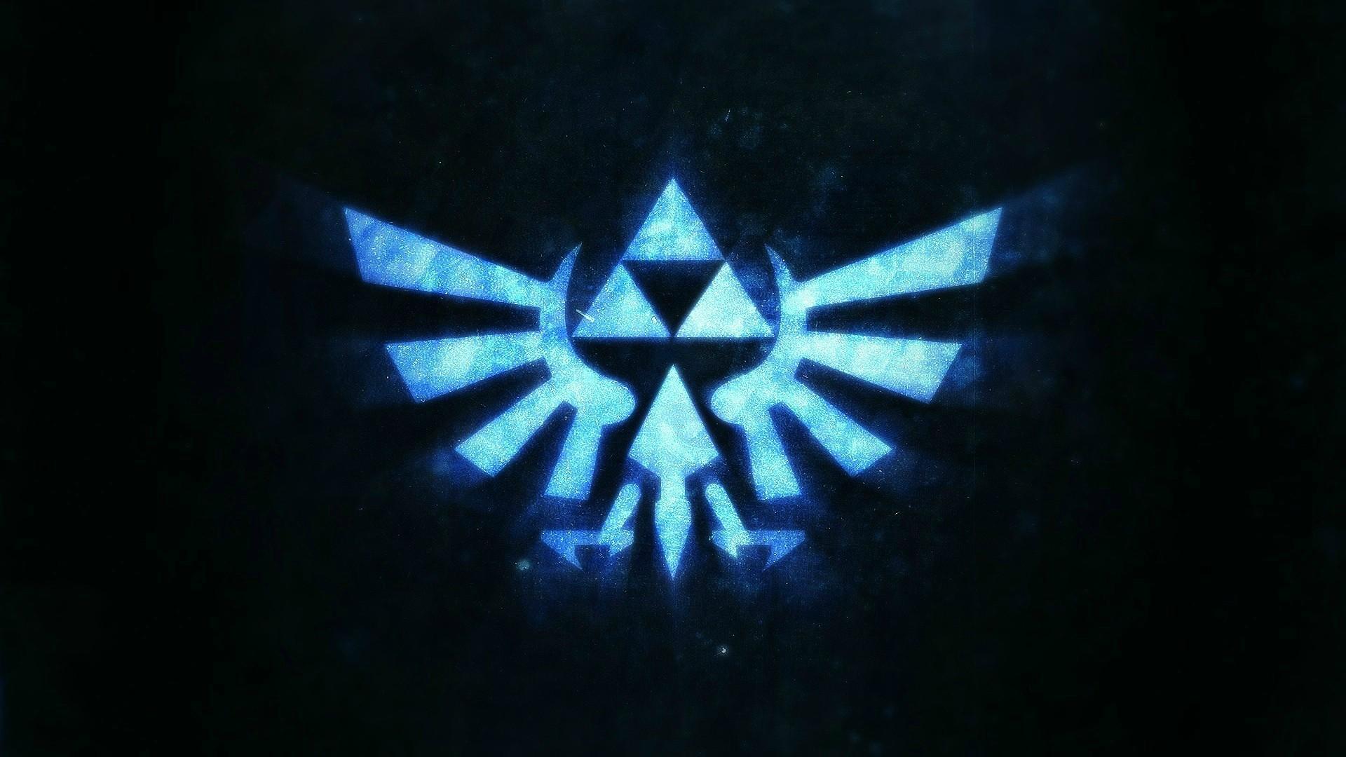 Fondos De Pantalla Videojuegos Logo Simetría Azul