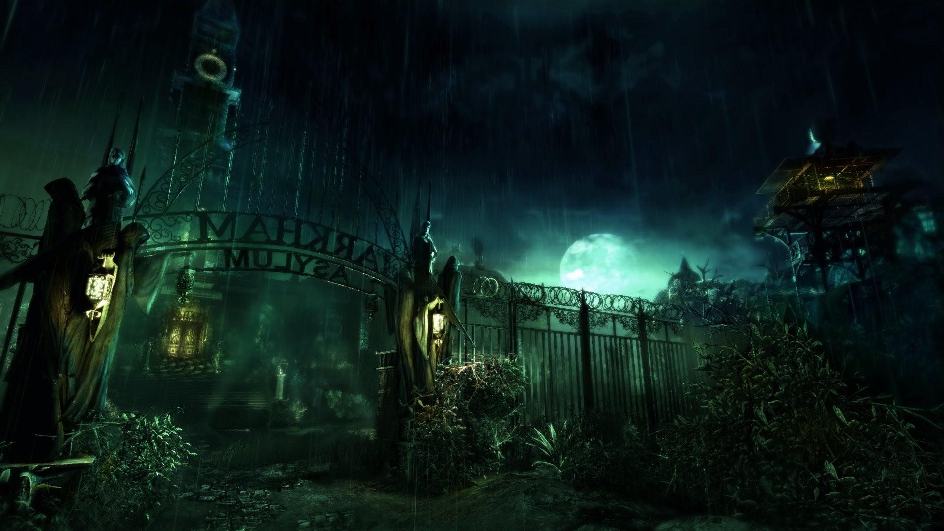 Wallpaper Video Games Night Joker Batman Arkham Asylum