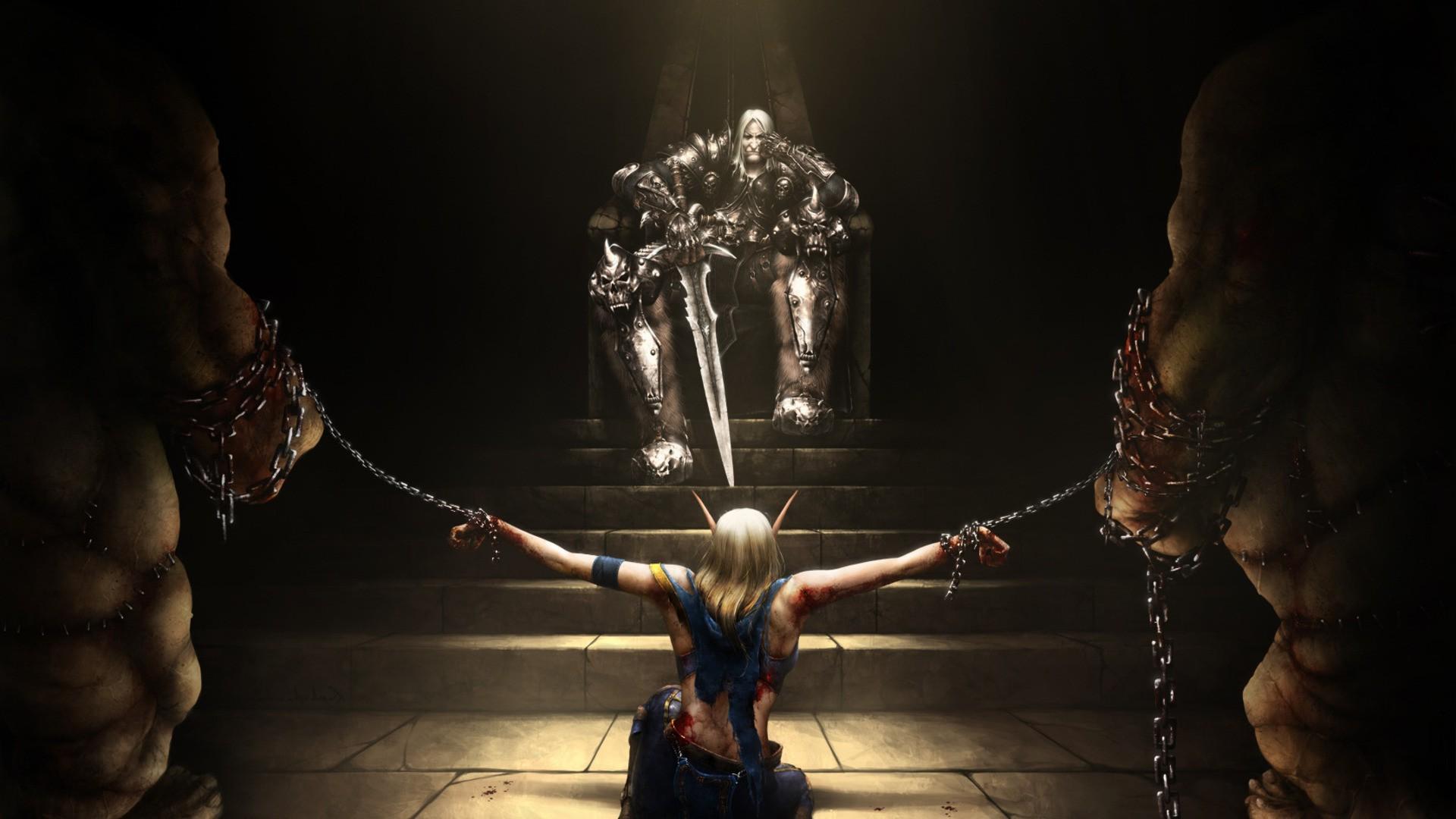 Wallpaper Video Games Night World Of Warcraft Sculpture