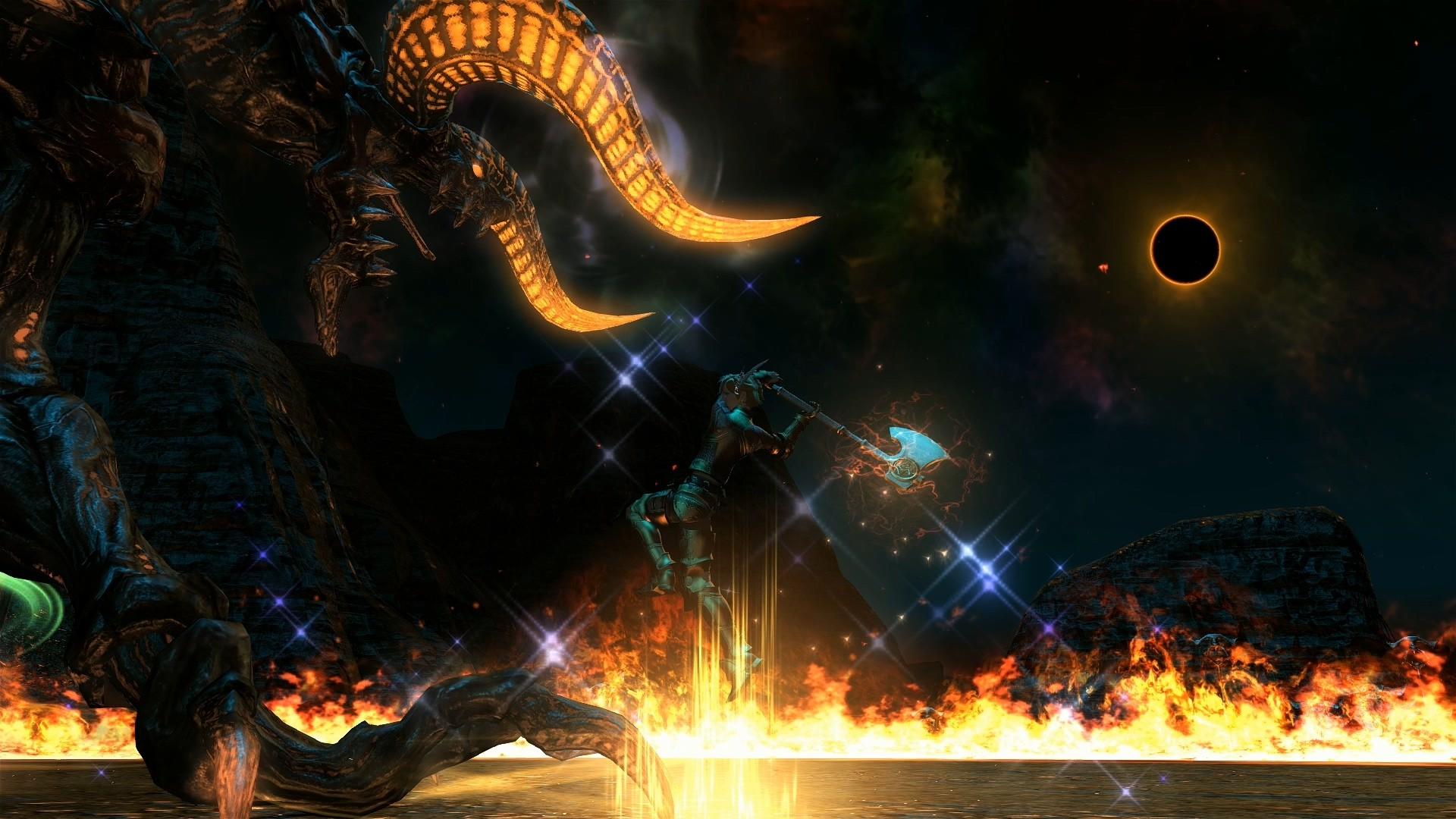 Beautiful Wallpaper Night Dragon - video-games-night-dragon-Final-Fantasy-XIV-A-Realm-Reborn-flame-darkness-screenshot-computer-wallpaper-special-effects-159174  Gallery.jpg