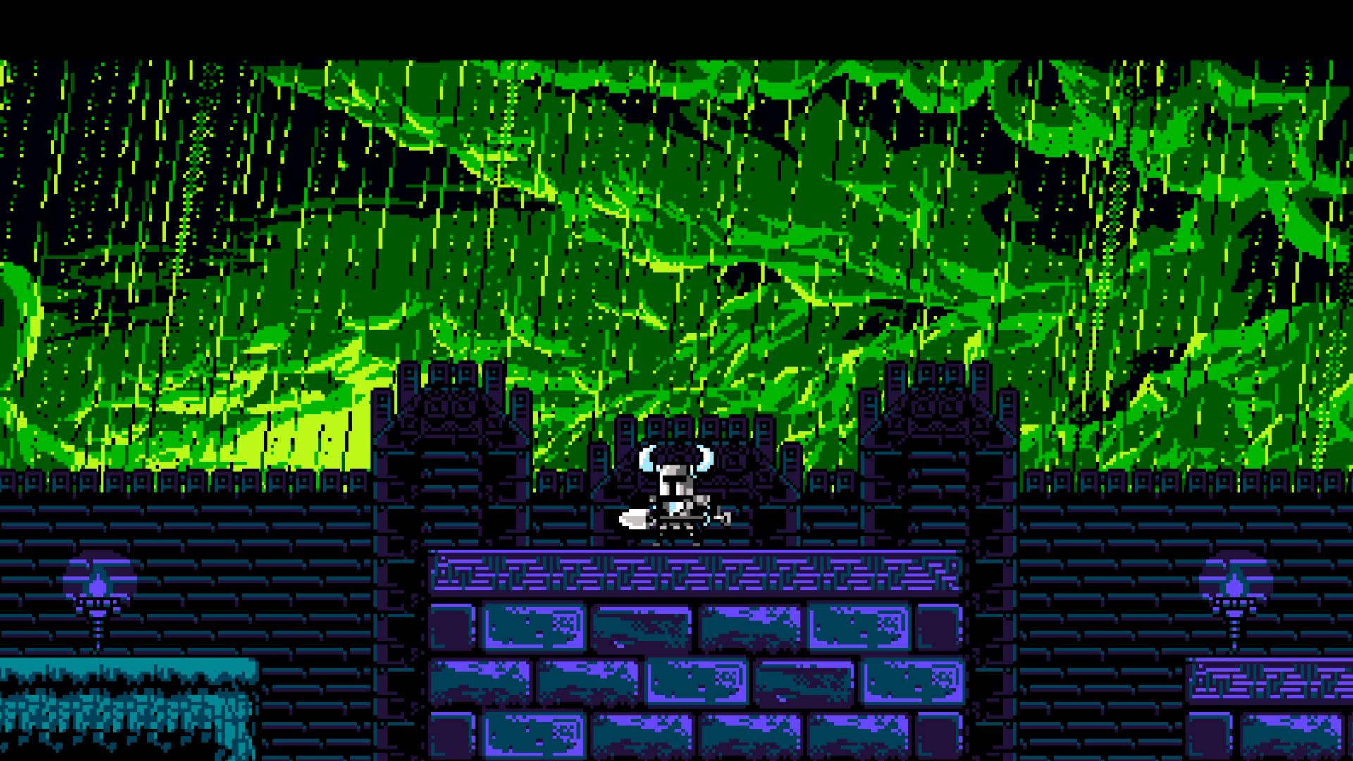 Wallpaper Video Games Night Pixel Art Green Retro
